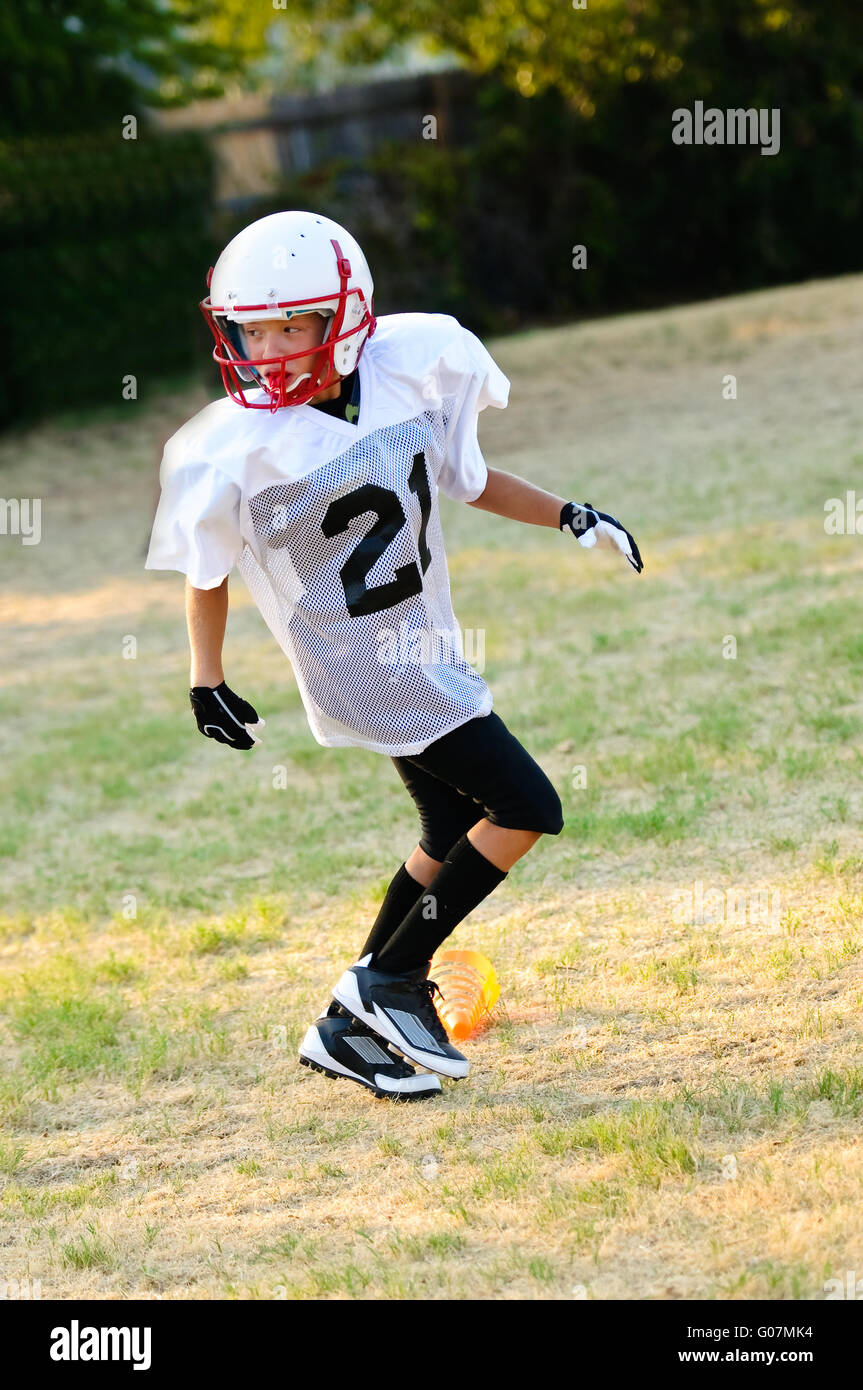 Youth football player - Stock Image