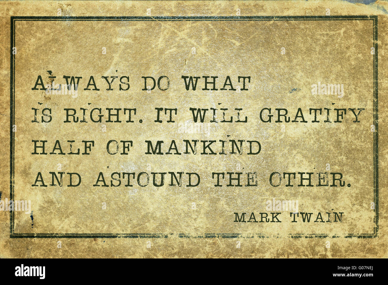 Always Do What Is Right Famous American Writer Mark Twain Quote