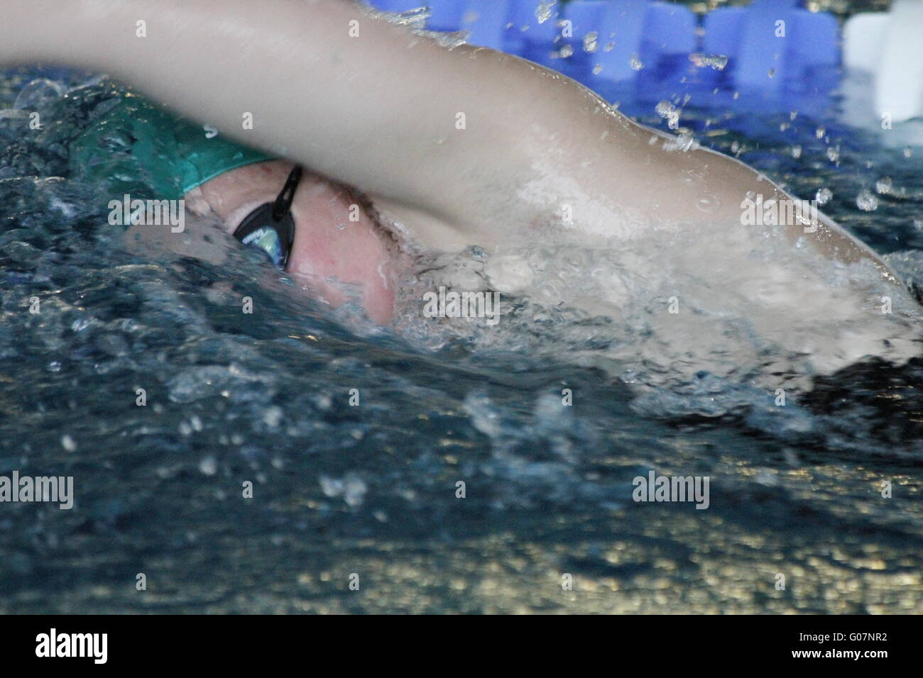 Freestyle swimmer - Stock Image