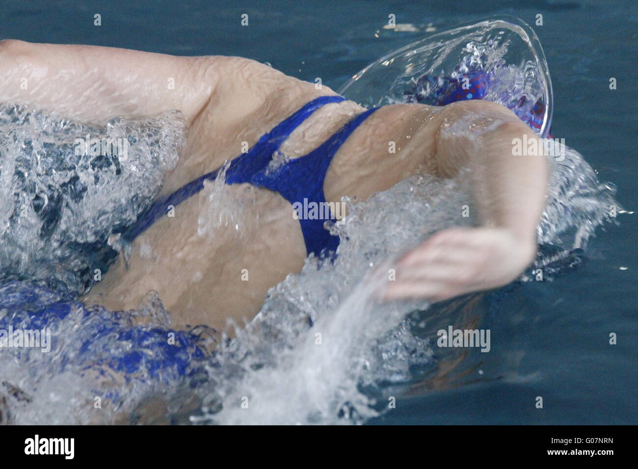 Butterfly swimmer - Stock Image