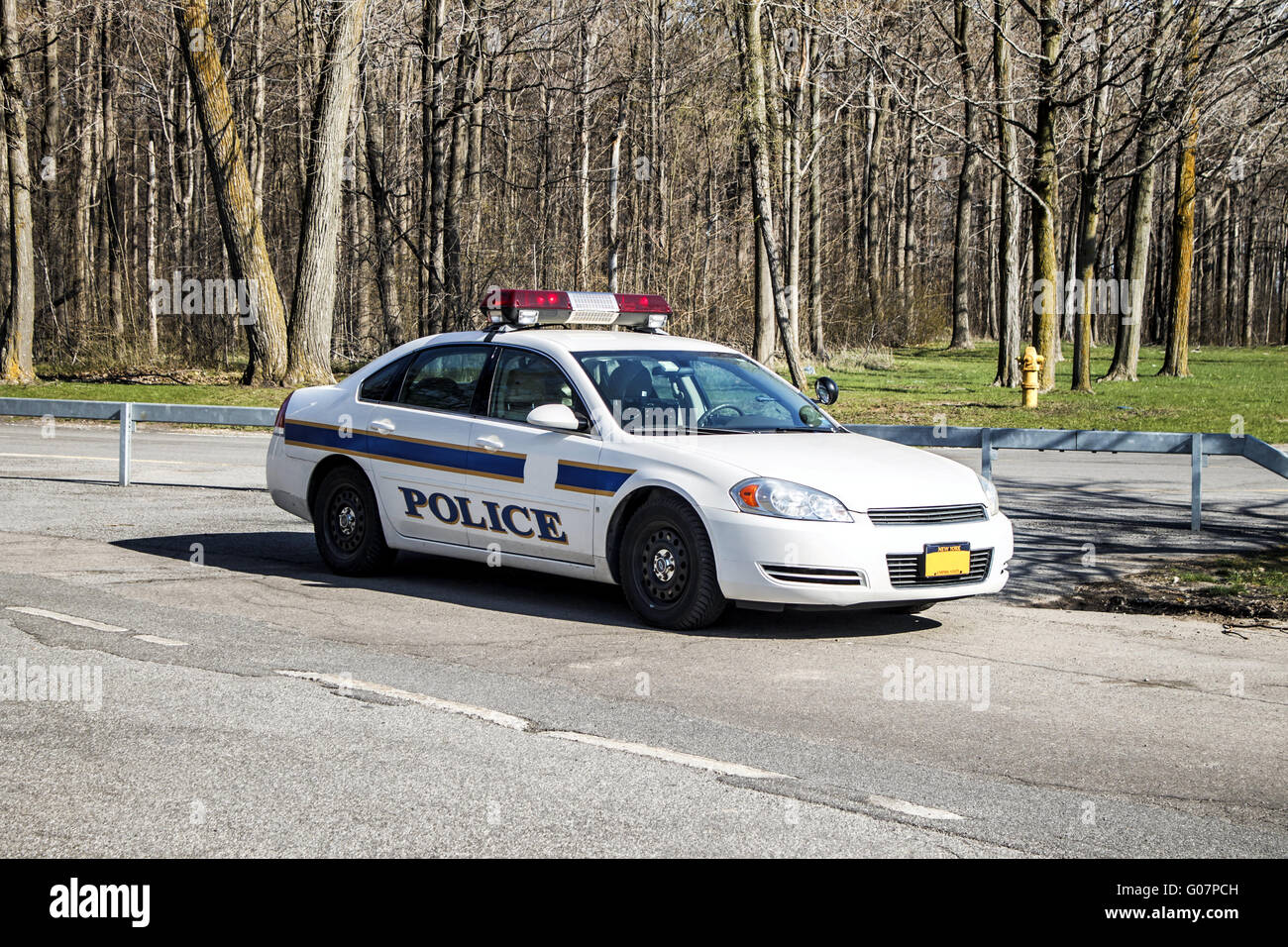 White Police Car - Stock Image
