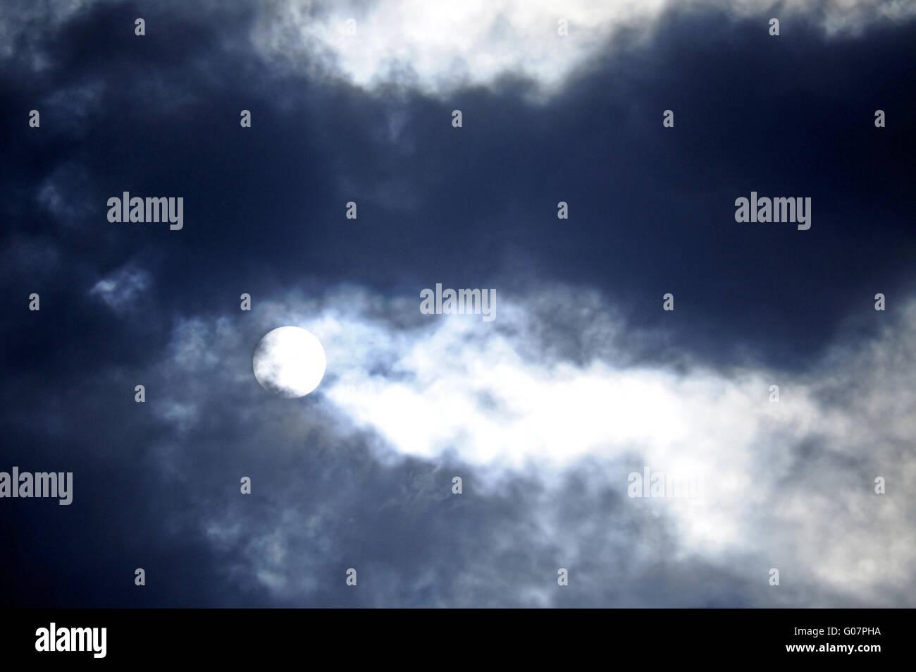 Mystical night scene. Stock Photo