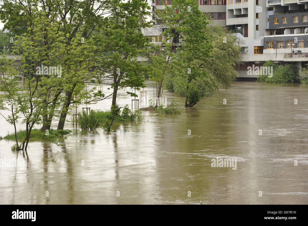 Natural disaster Floods in Hanover - Stock Image