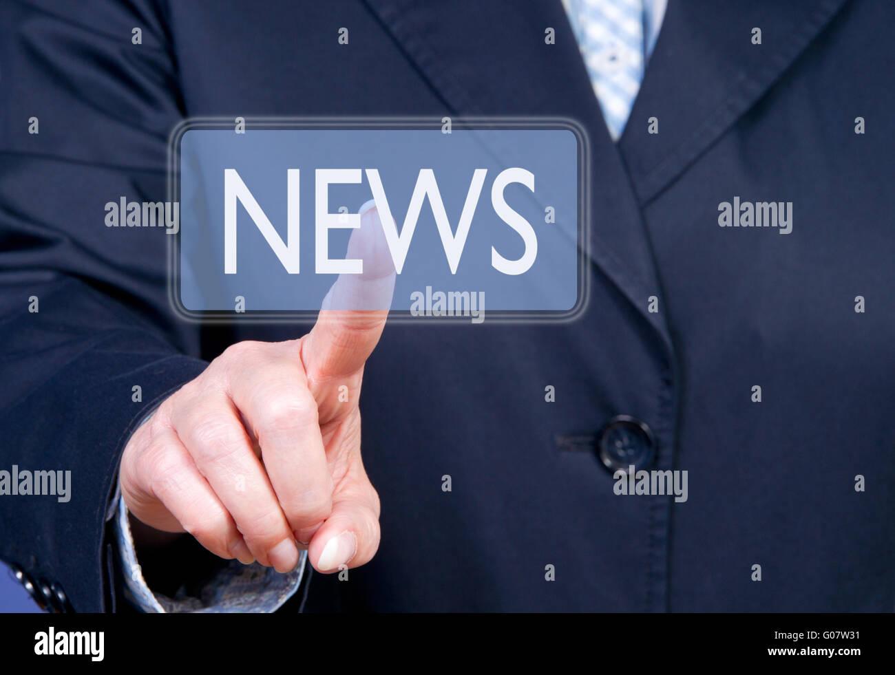 NEWS - Stock Image