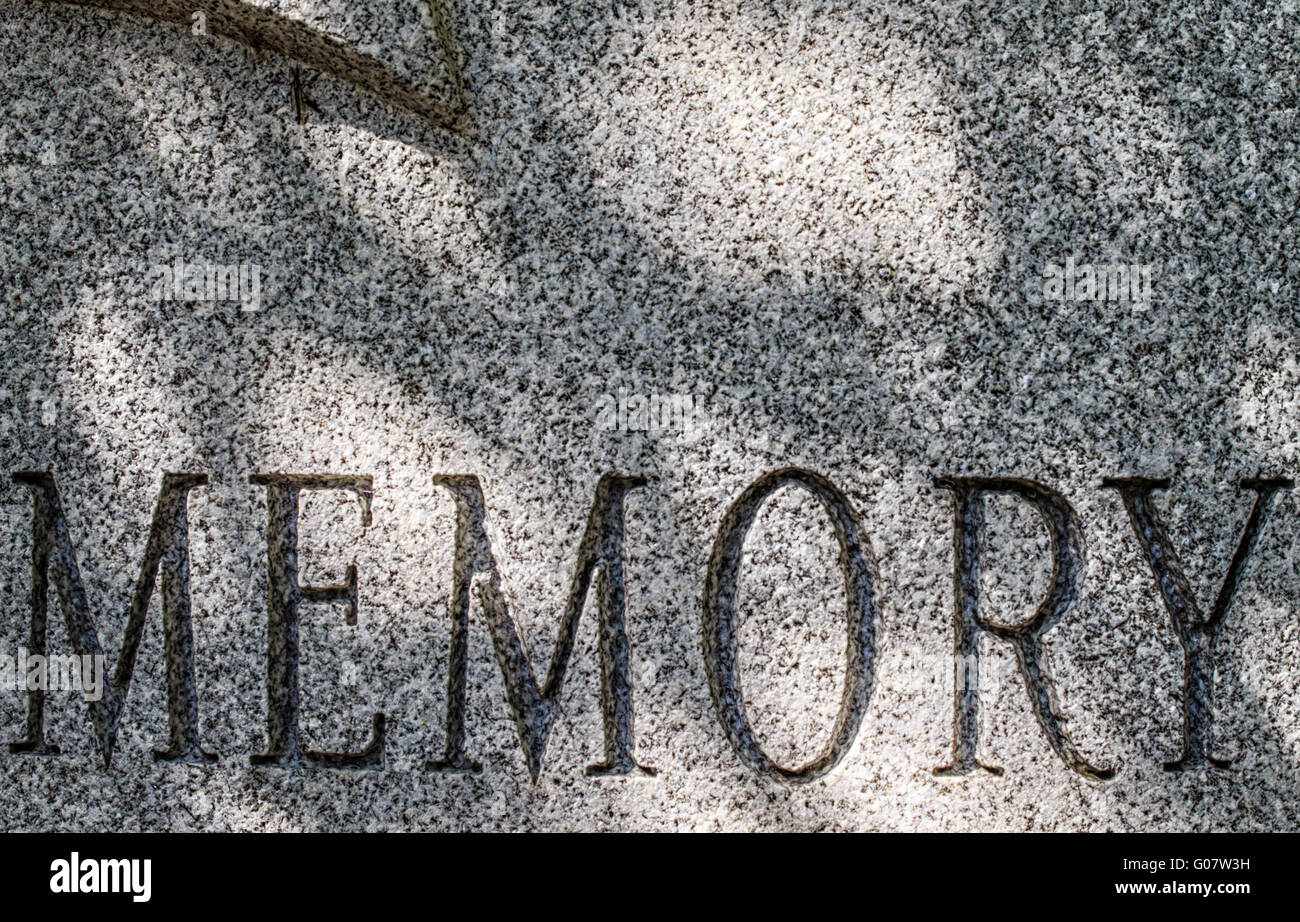 Engraved Memory - Stock Image