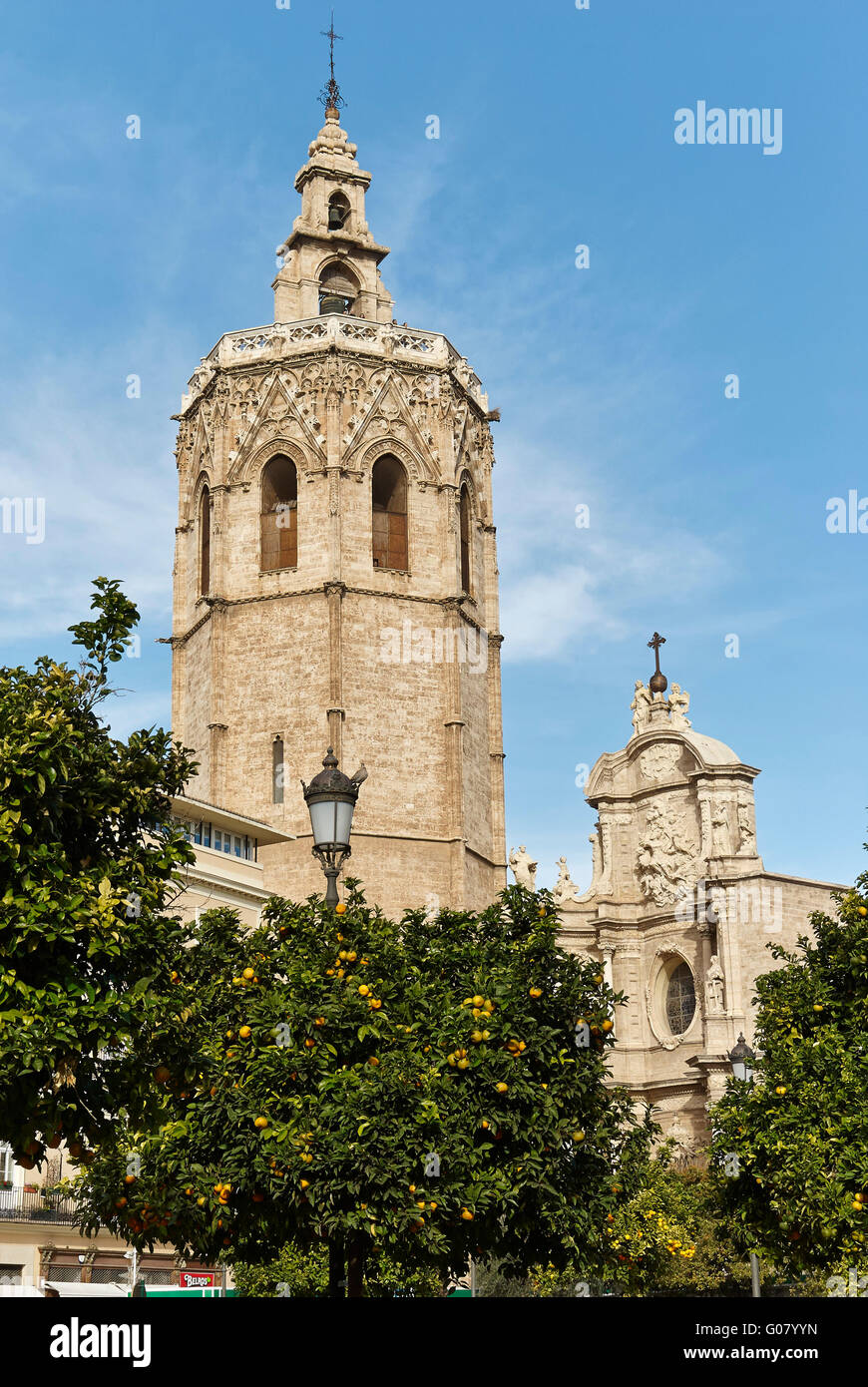 El Micalet Tower. Cathedral. valencia. Spain. Stock Photo