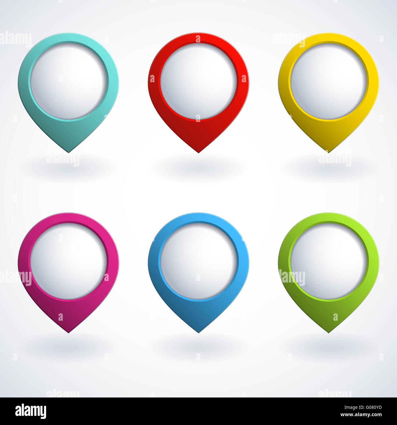 3d buttons - Stock Image