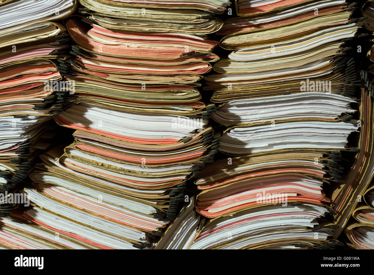 Stack of documents and papers Stock Photo