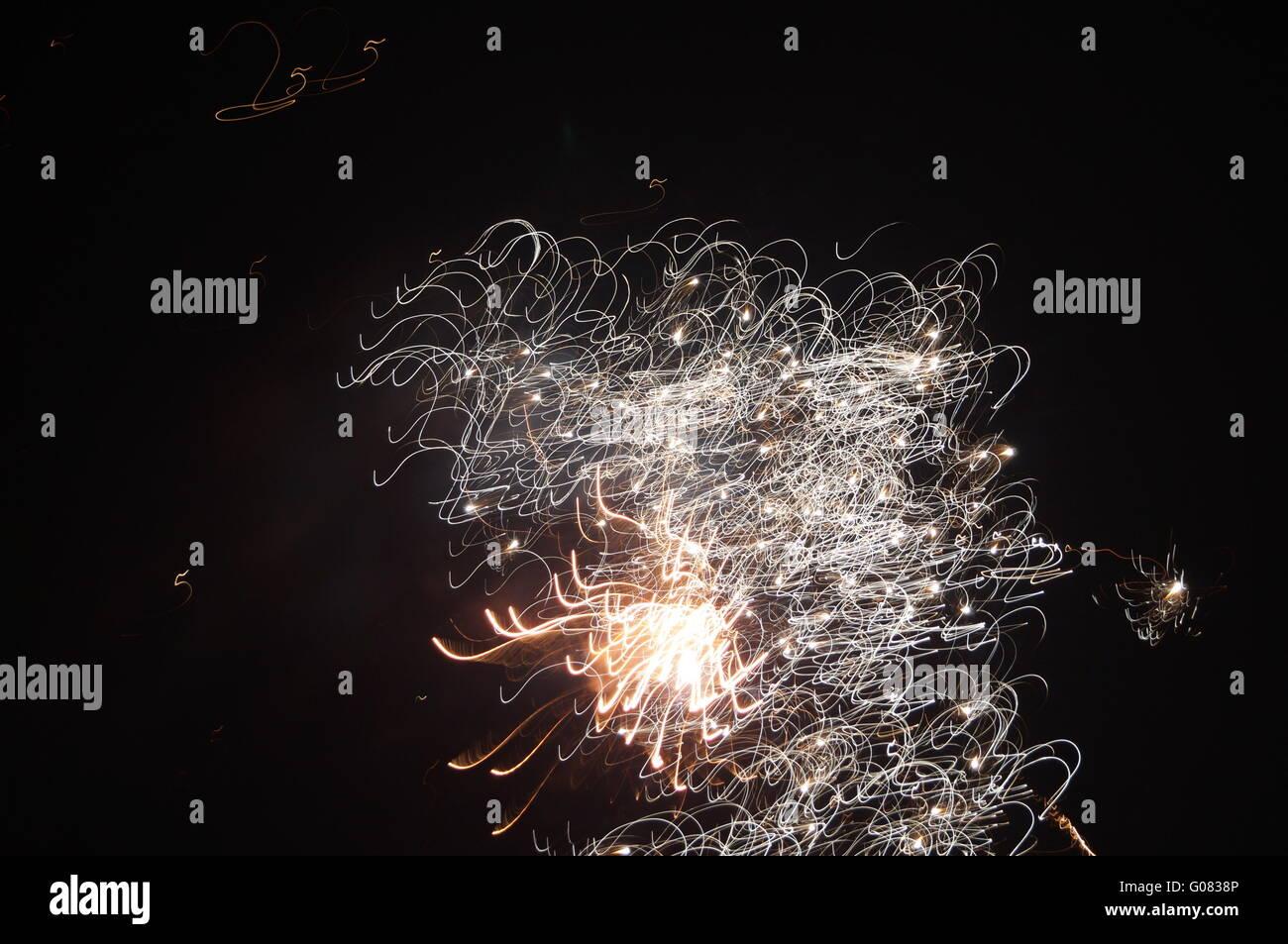 Firework at Night on New Year 2013 Stock Photo