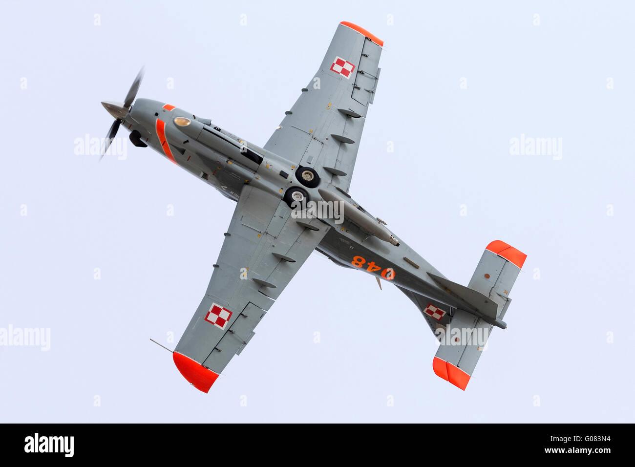 Polish Air Force PZL-Okecie PZL-130TC-2 Turbo Orlik aerobatic team. - Stock Image