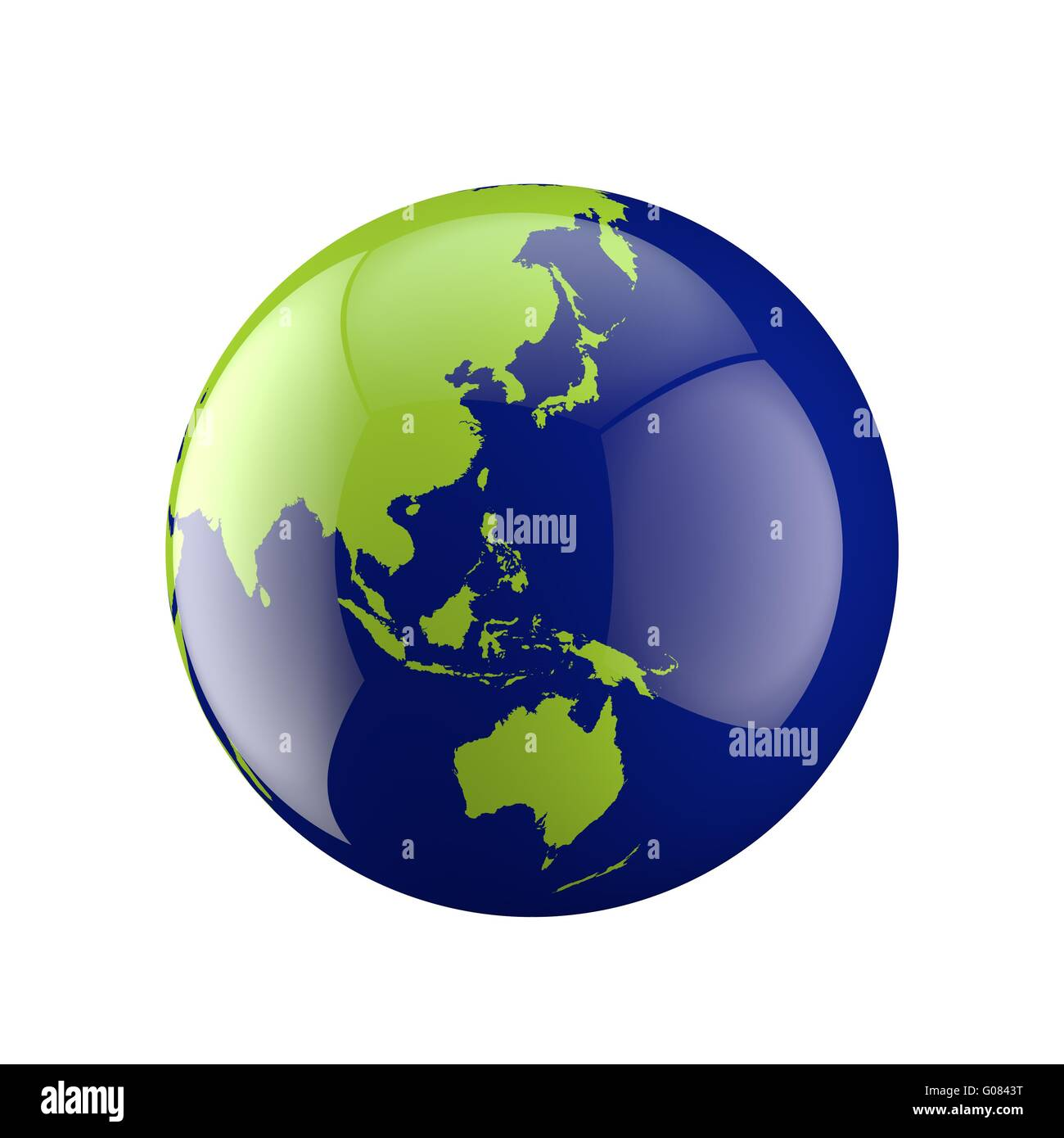 Three dimensional globe with Australia - Stock Image