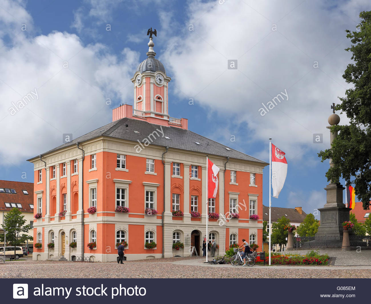 The Baroque town hall of Templin in the Uckermark - Stock Image