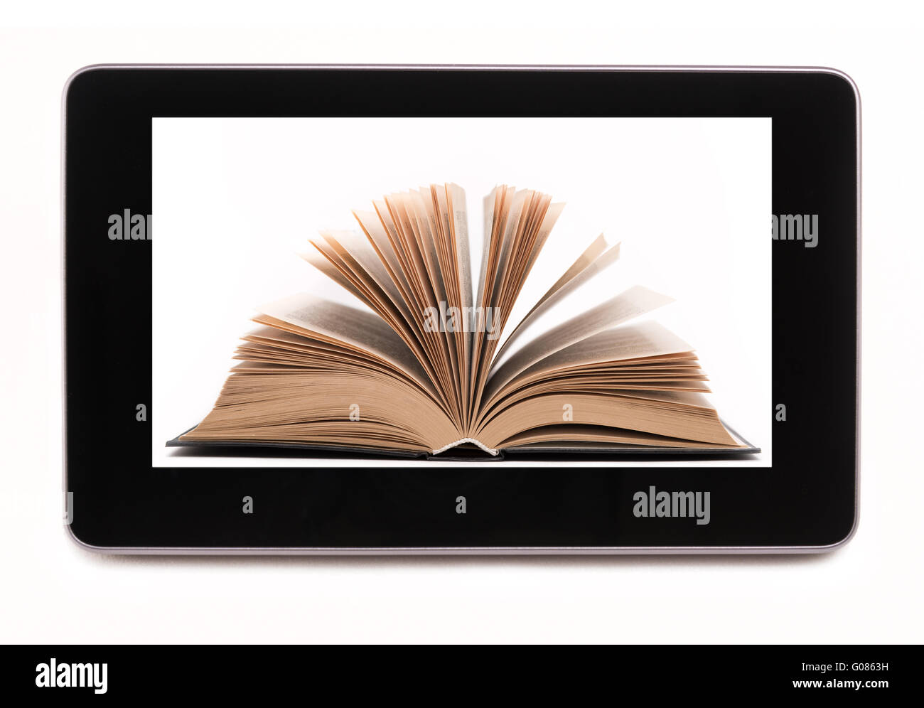 Bookstore in table computer - Stock Image