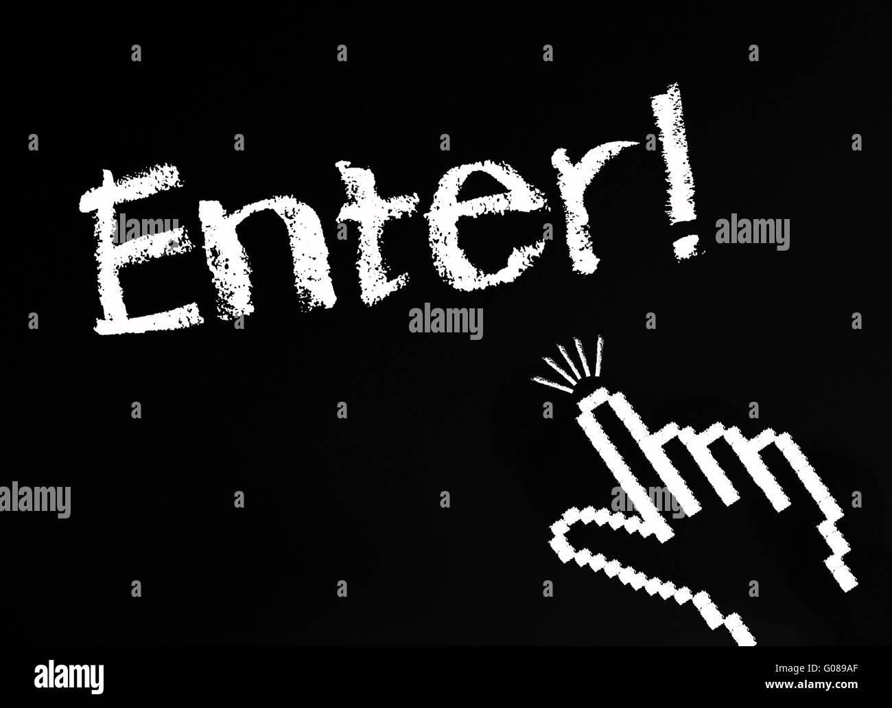 Enter ! Stock Photo