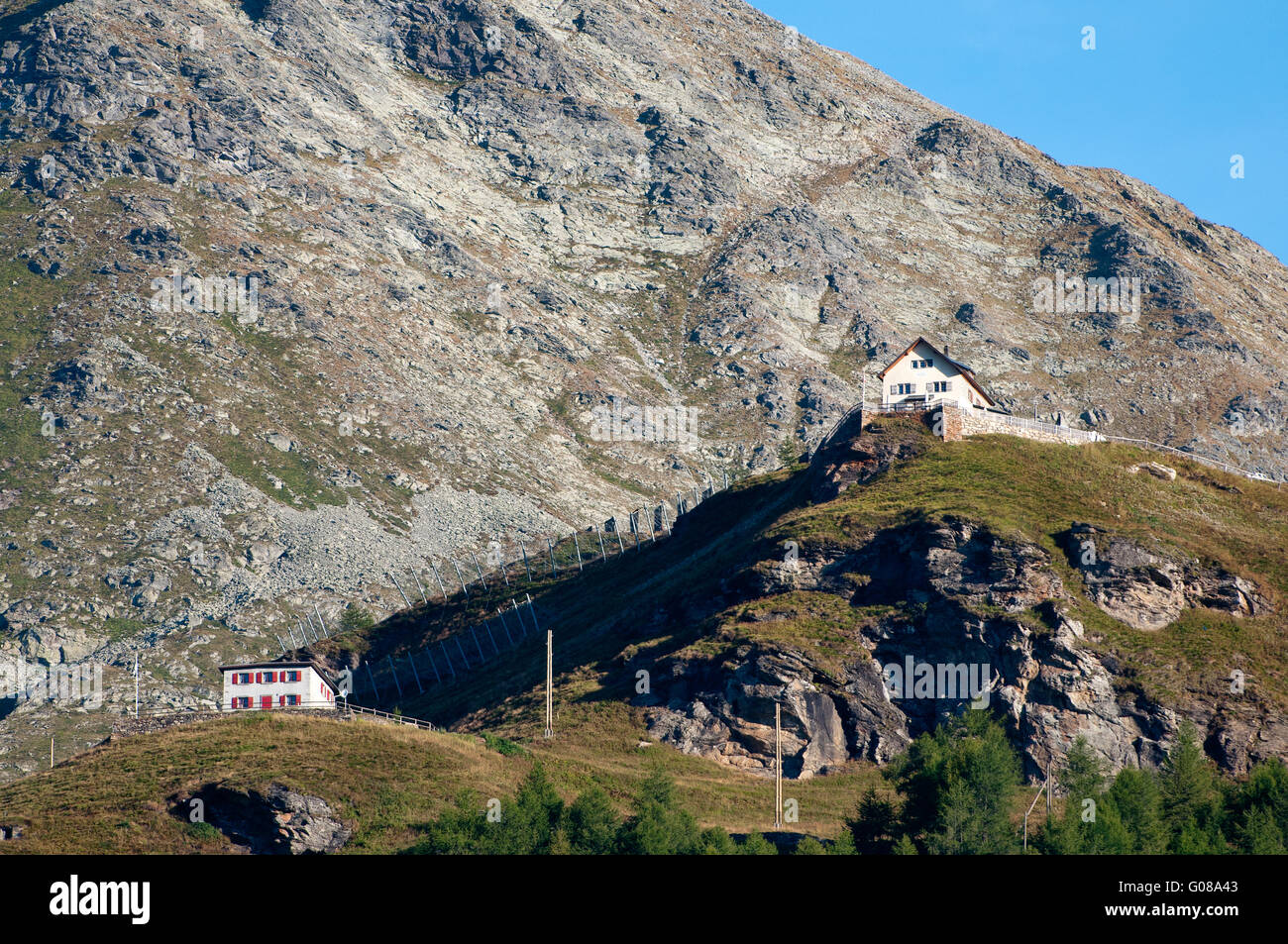 House in the Mountens - Stock Image