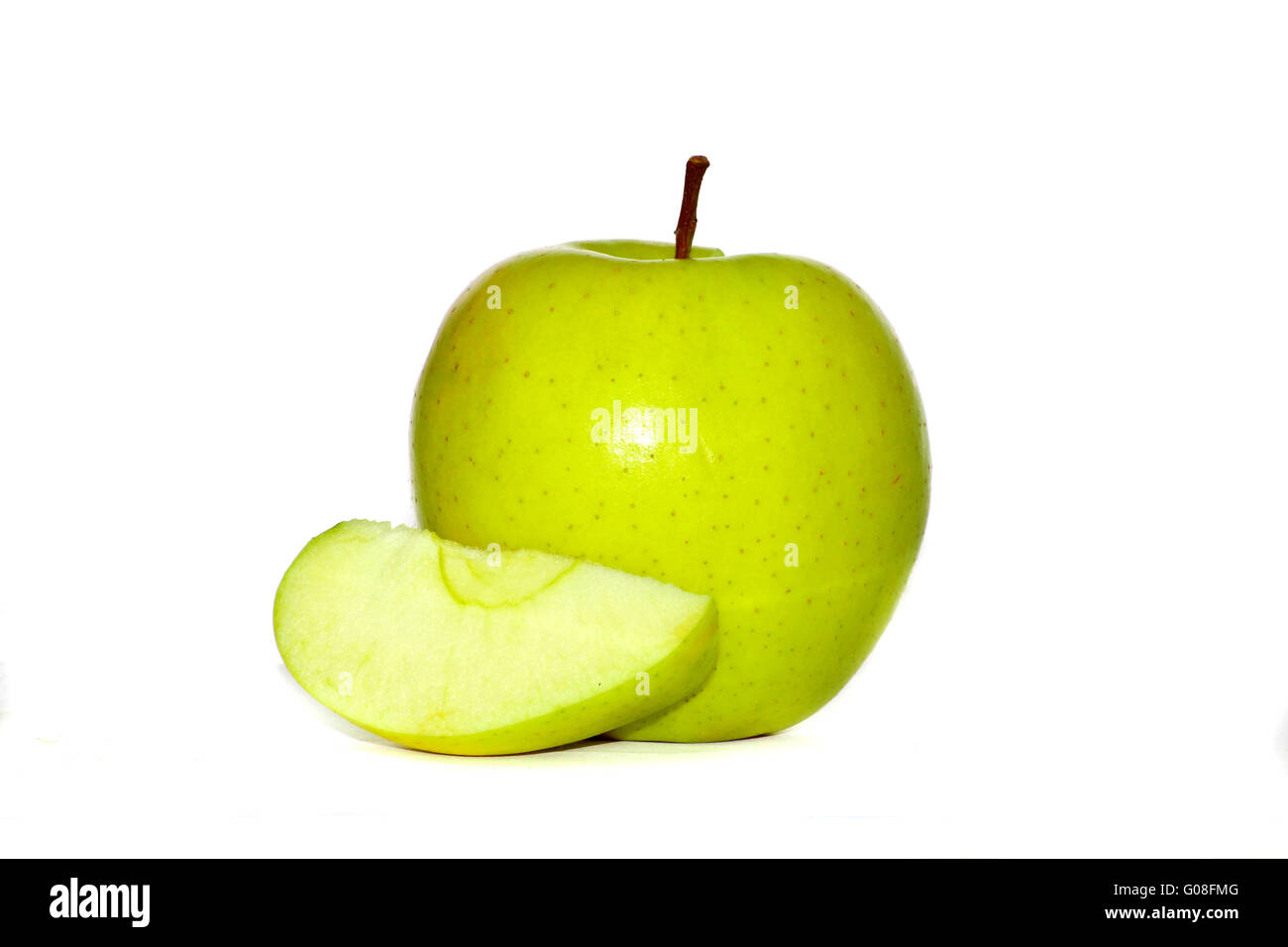 Apple on withe background - Stock Image
