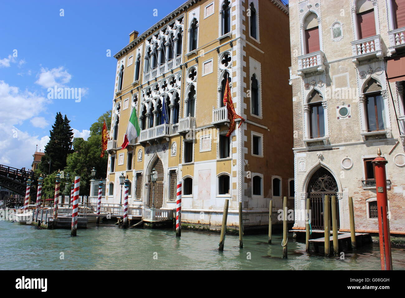 Palaces on the Grand Canal Stock Photo