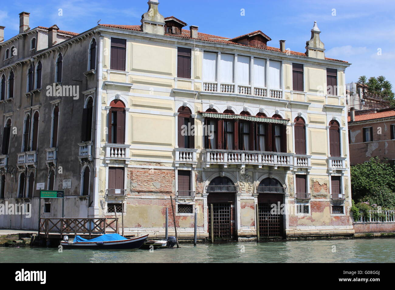 Palace on the Grand Canal Stock Photo