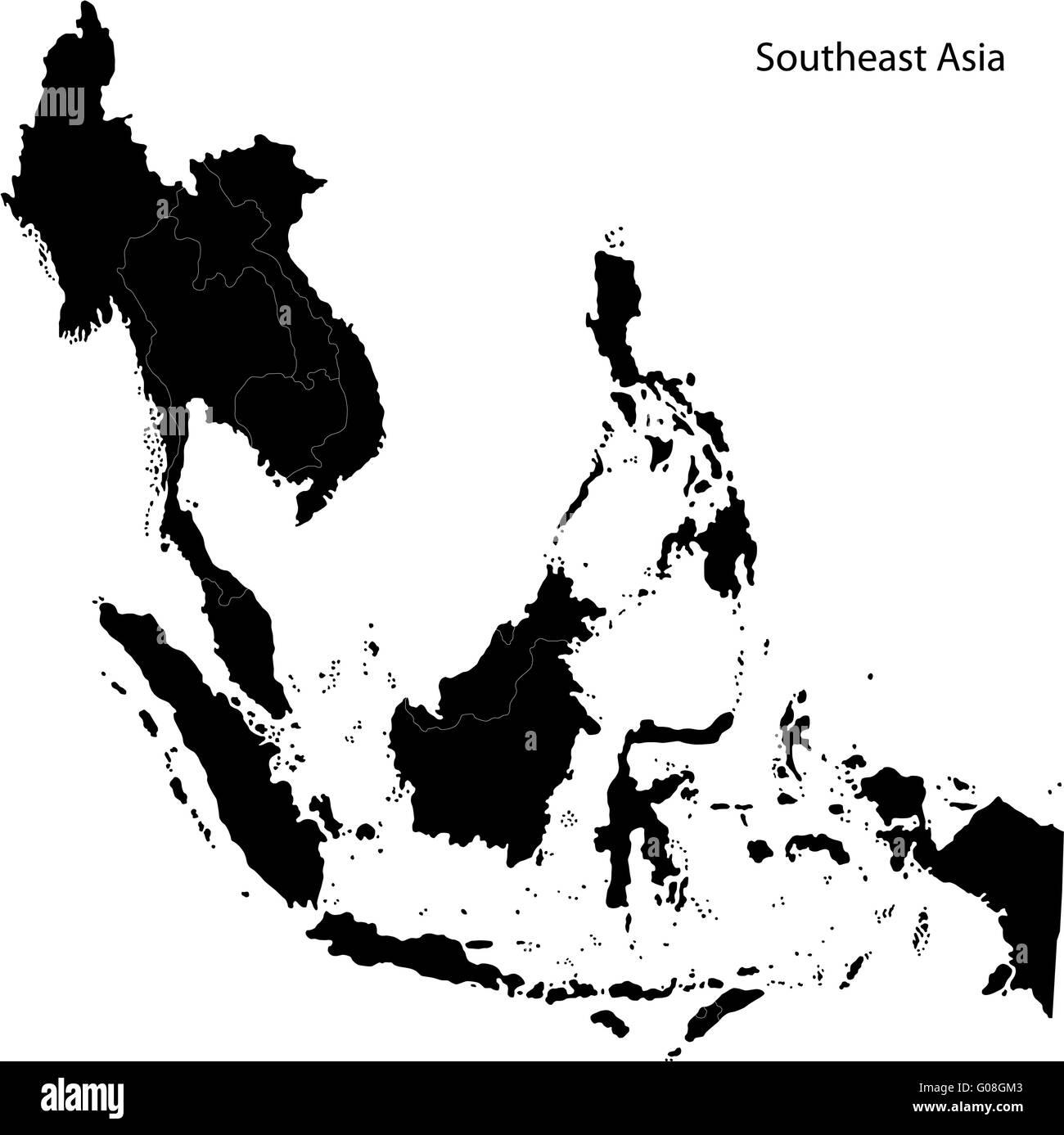 Black Southeastern Asia - Stock Image