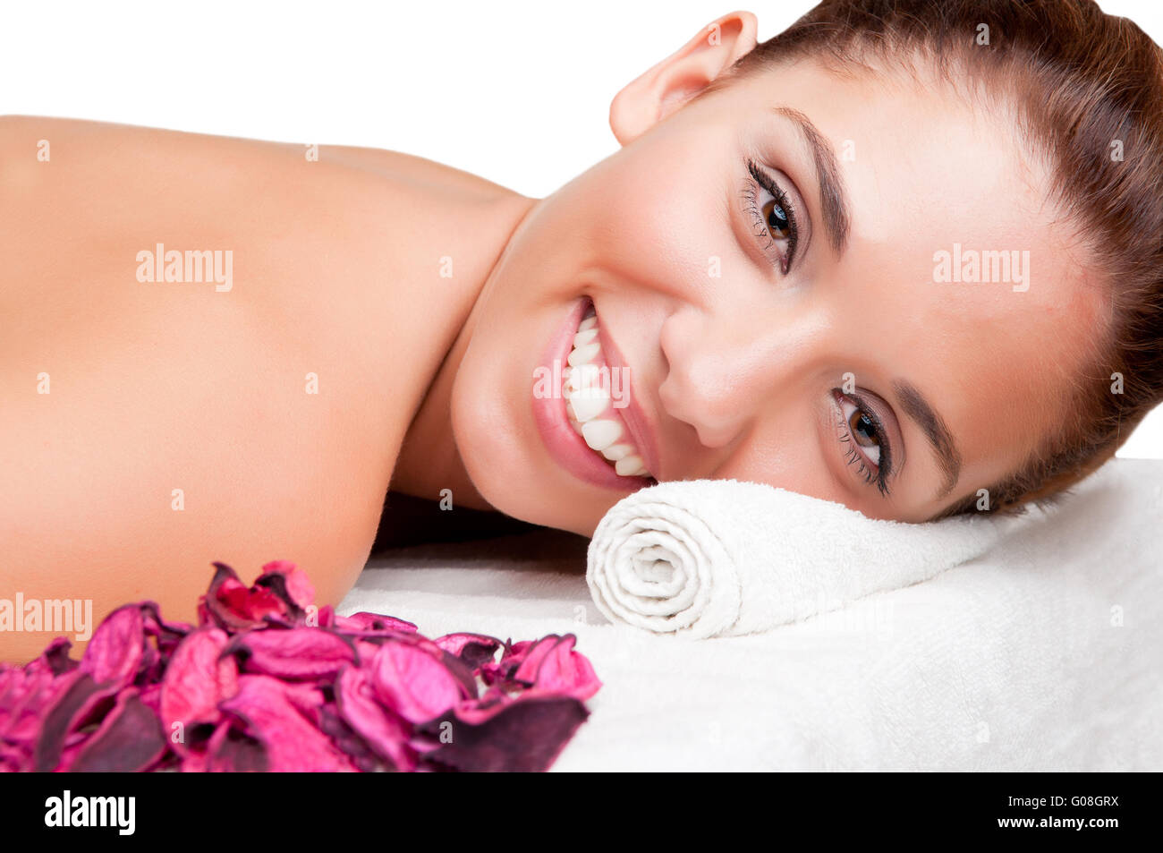 Woman in a Spa - Stock Image