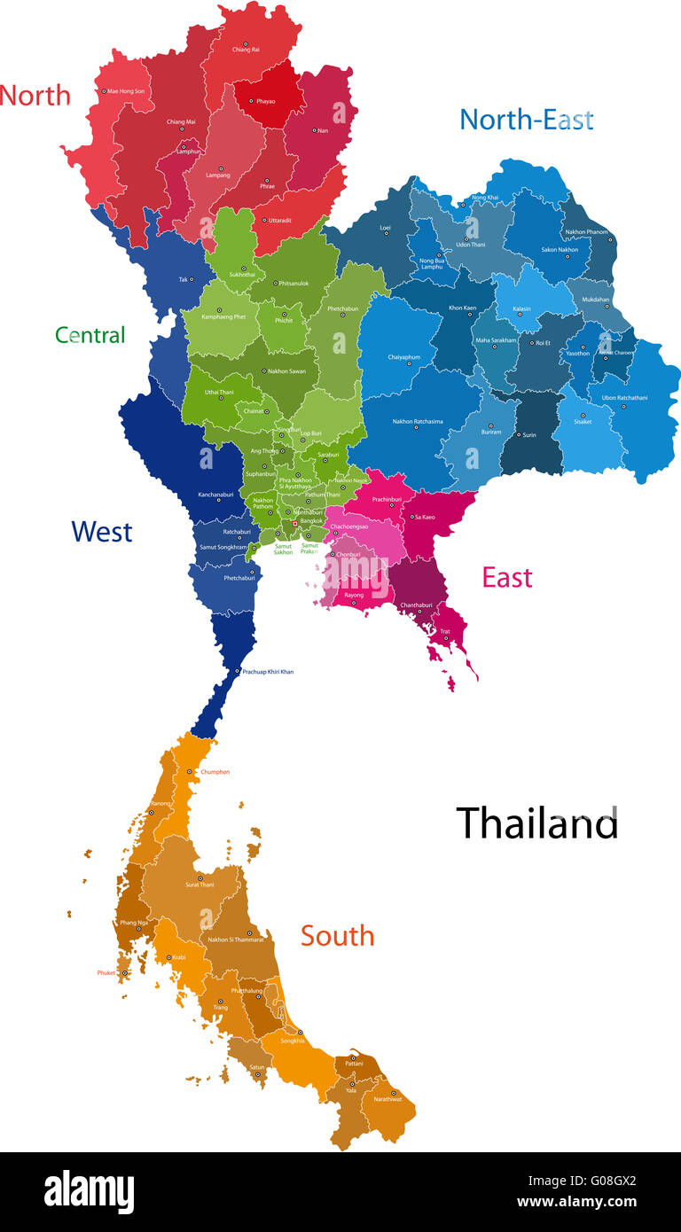 Thailand map - Stock Image