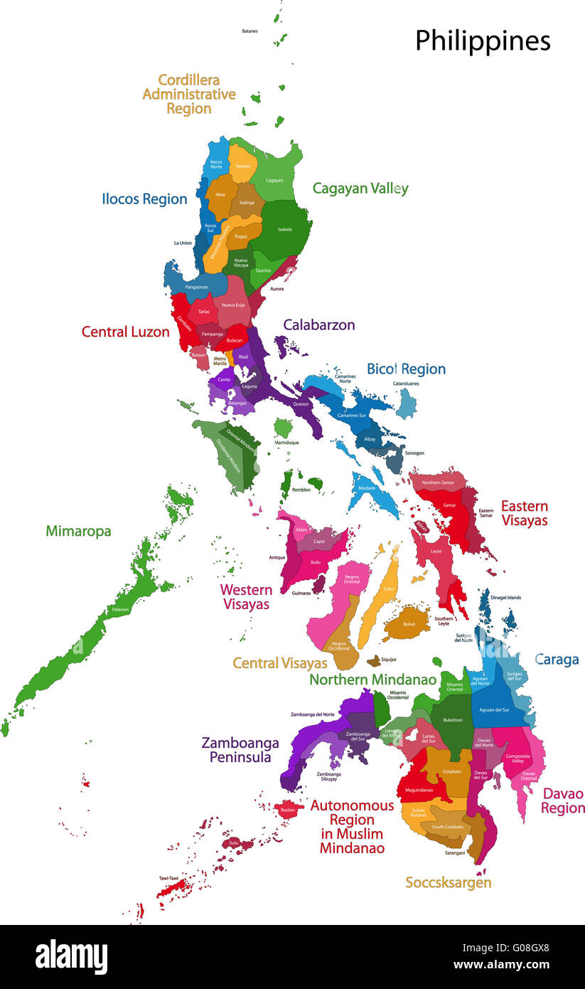 Philippines Map Stock Photo 103451104 Alamy