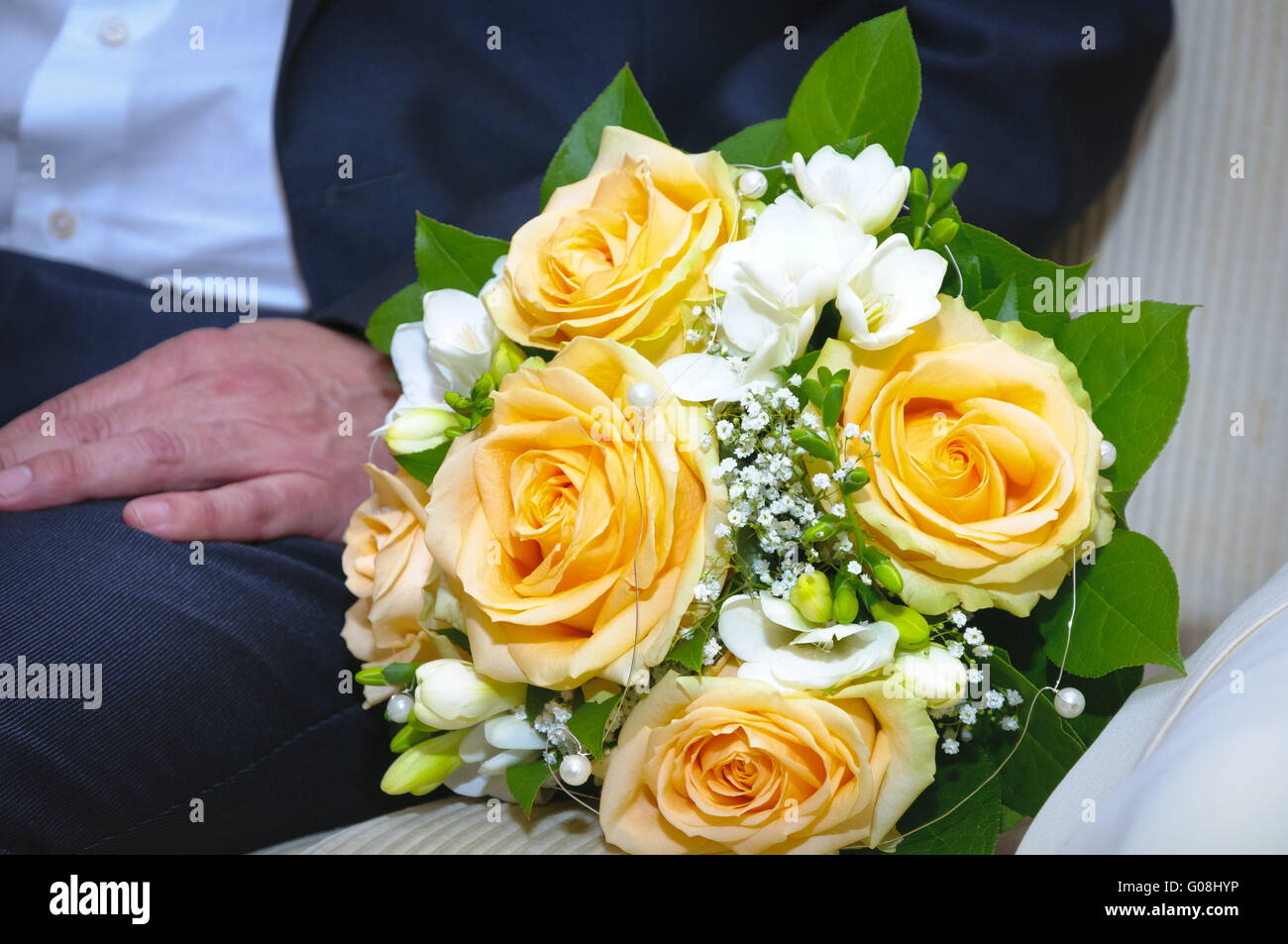 Bridal bouquet - Stock Image