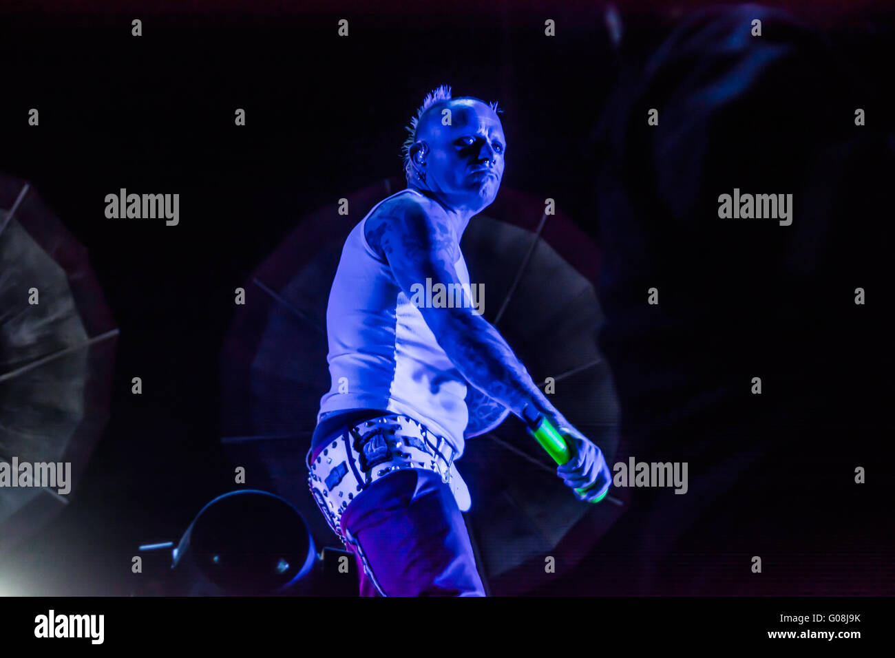 The prodigy U.K electronic music band ending with a concert, the music festival Vive latino 2016 - Stock Image