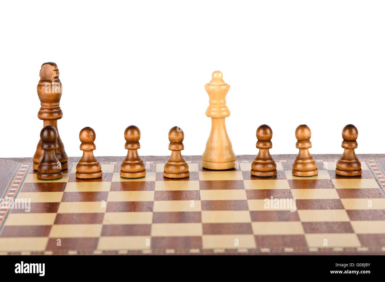 Checkmate the black king - Stock Image
