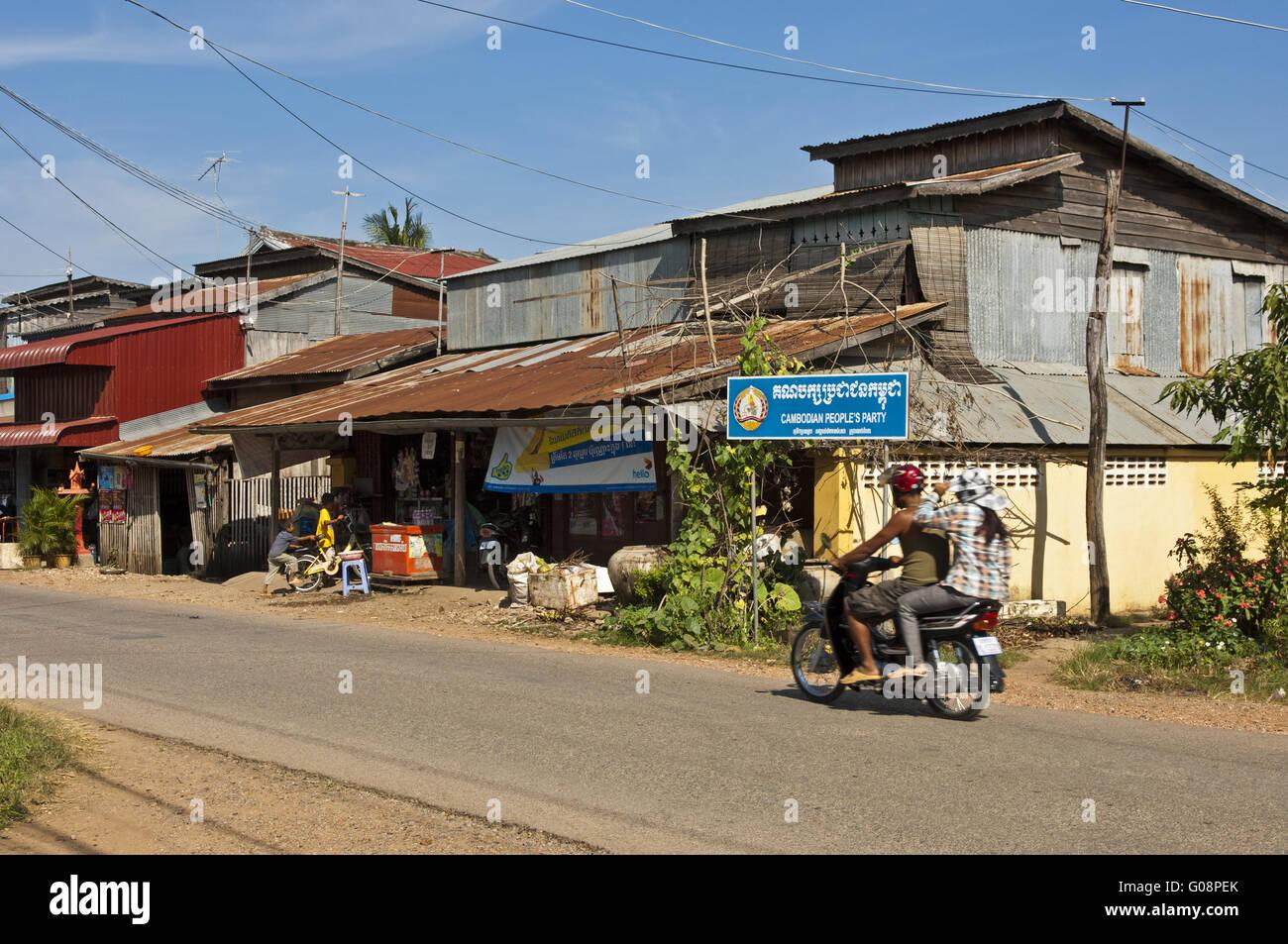 Street scene in Battambang, Cambodia Stock Photo