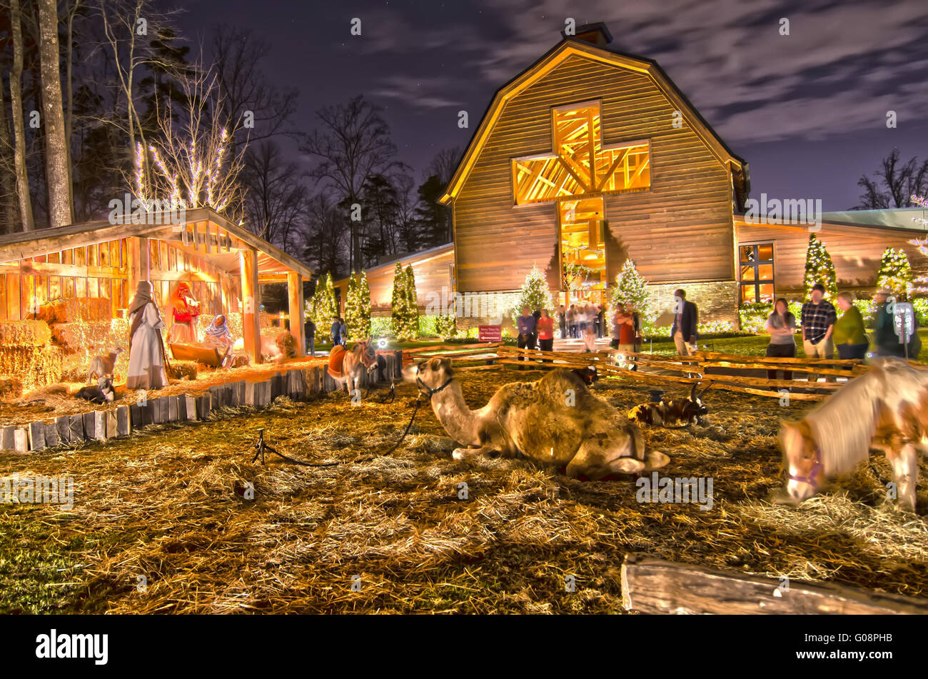 21st december 2013 charlotte nc christmas celebration at billy graham library stock