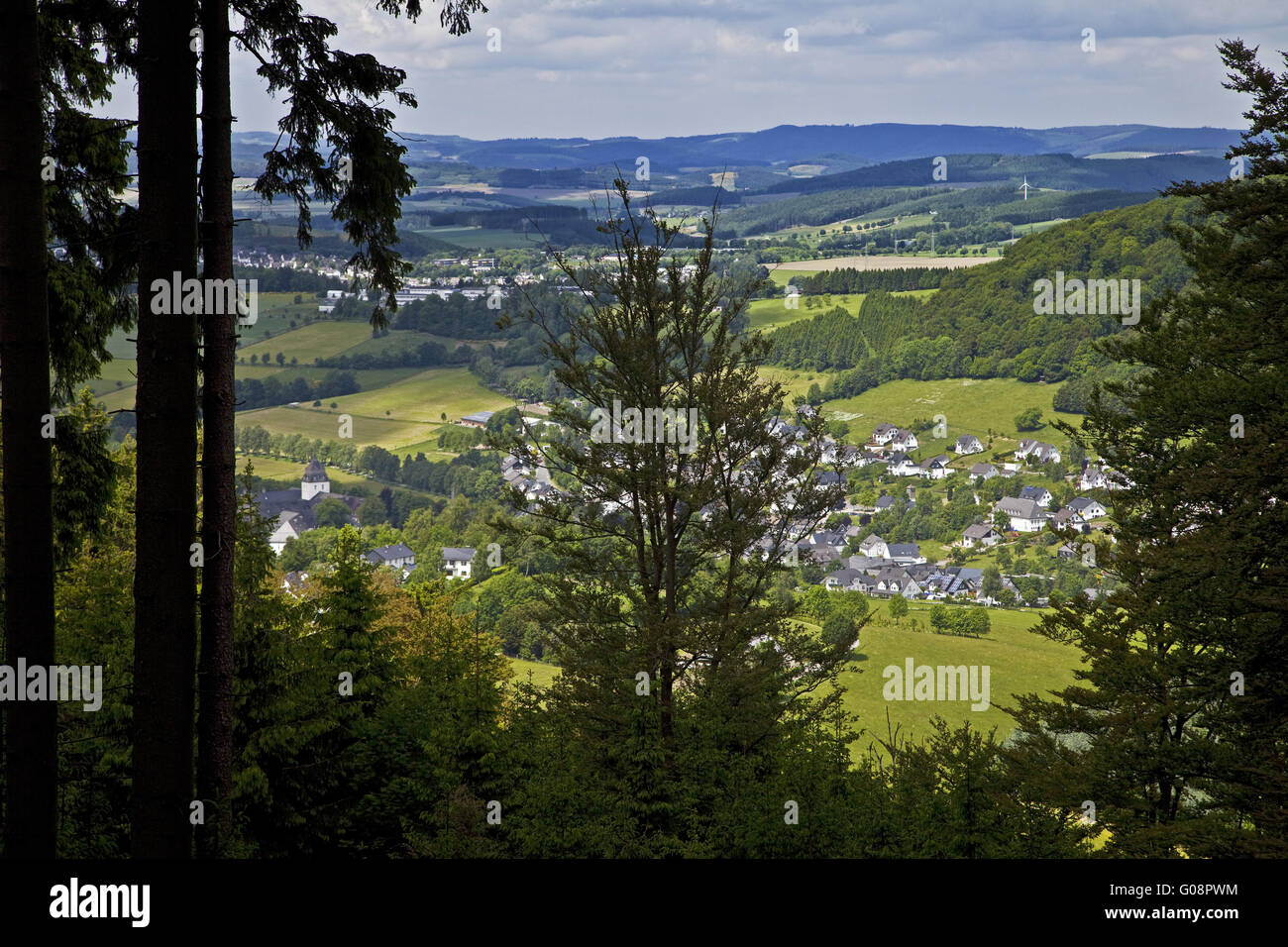 View of Schmallenberg in the Sauerland, Germany. - Stock Image