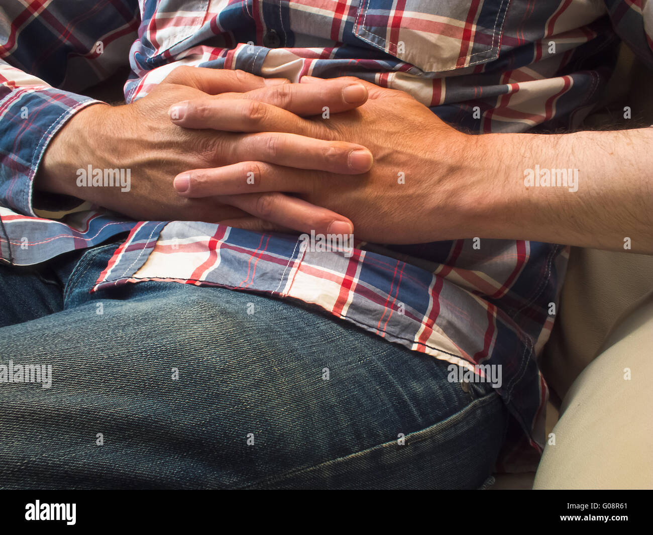 folded hands - Stock Image