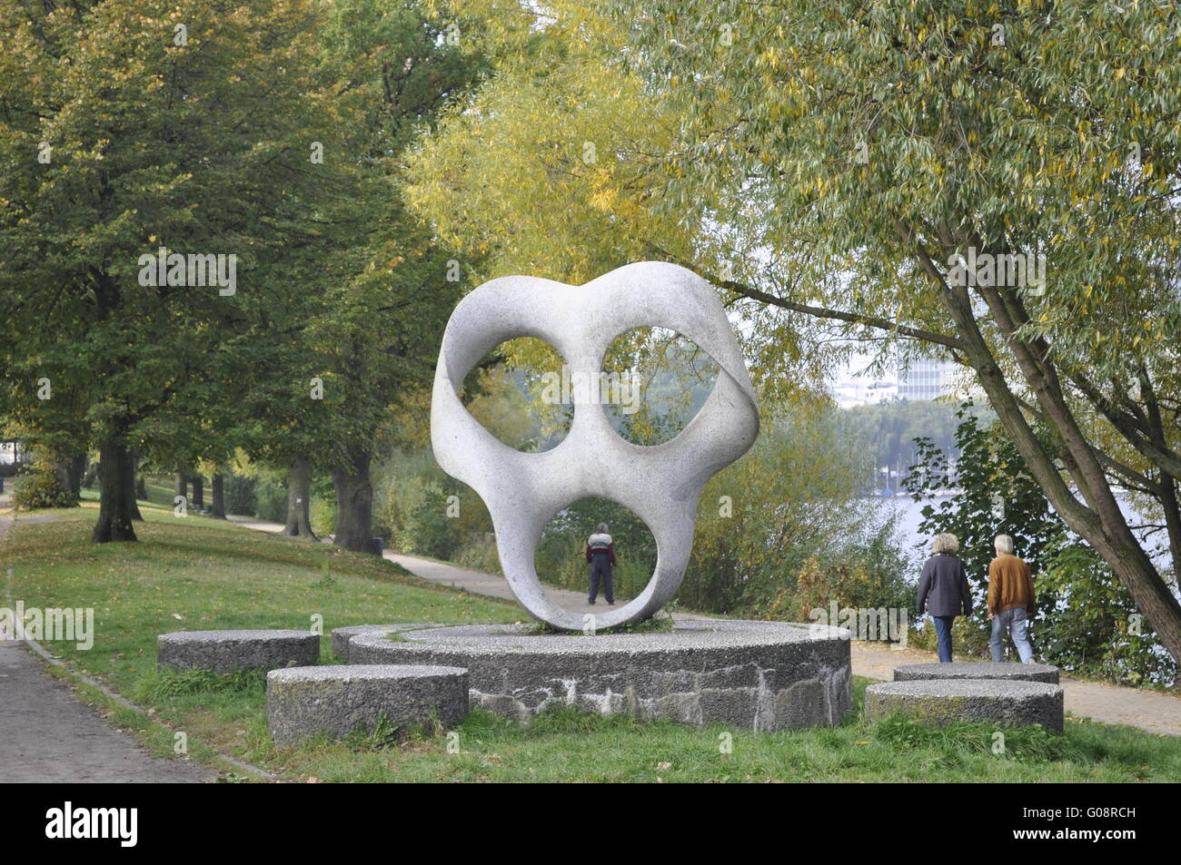 The modern sculpture - Stock Image