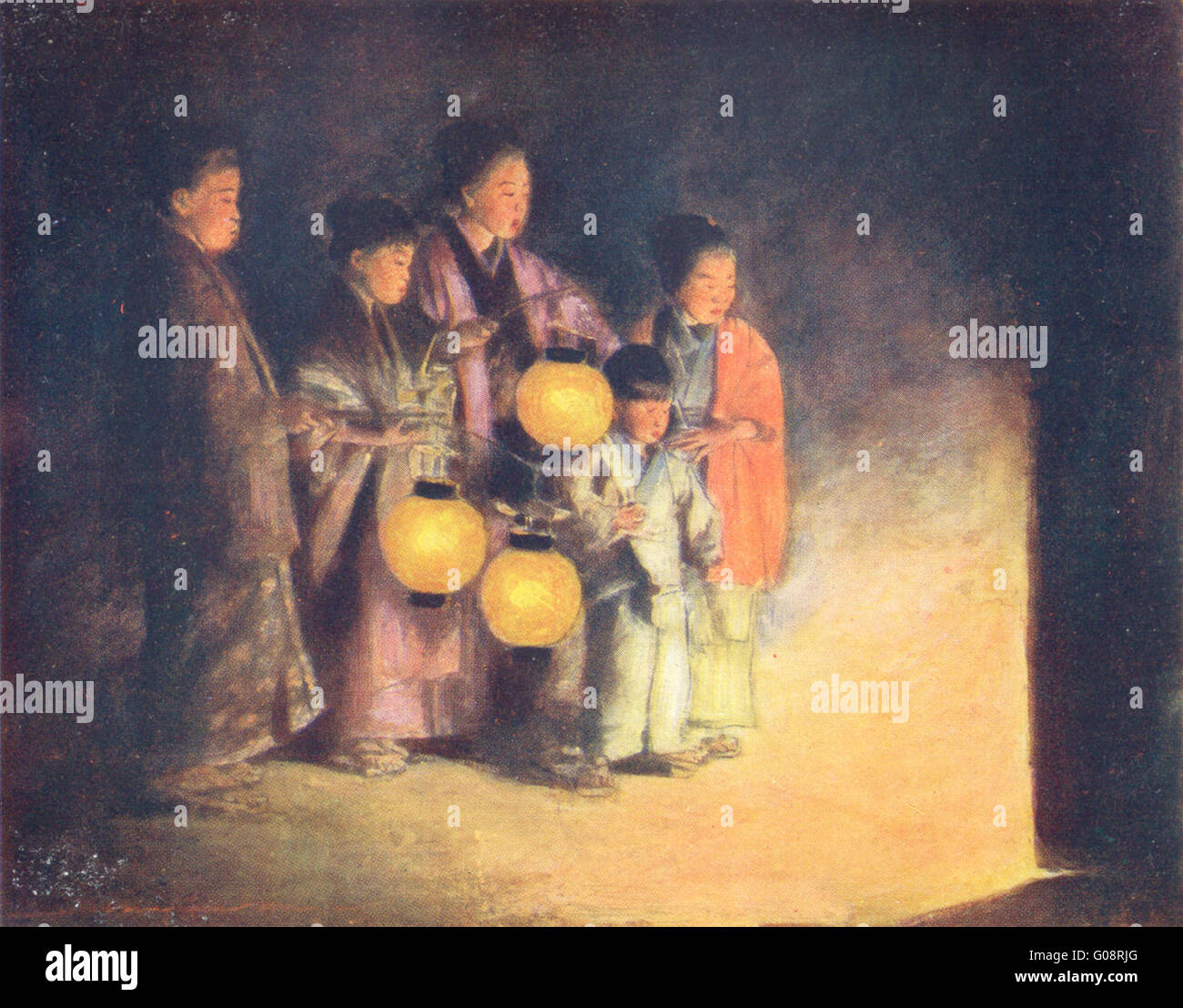 Japan Lantern Light Painting High Resolution Stock Photography And Images Alamy