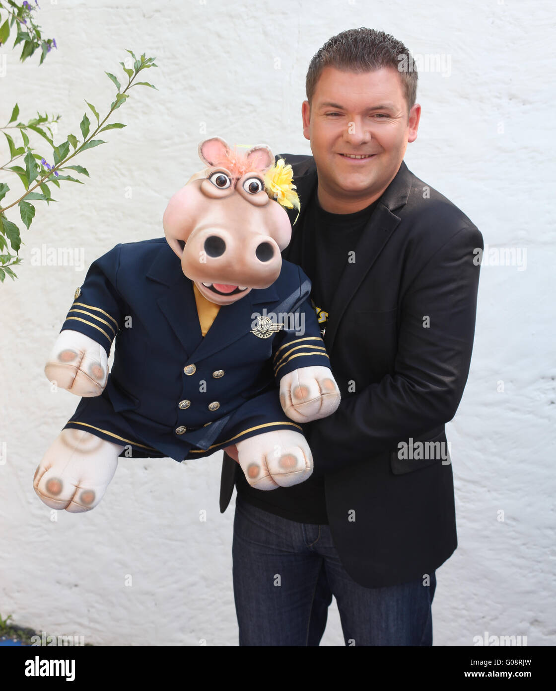 Pierre Ruby and Hippo - Stock Image