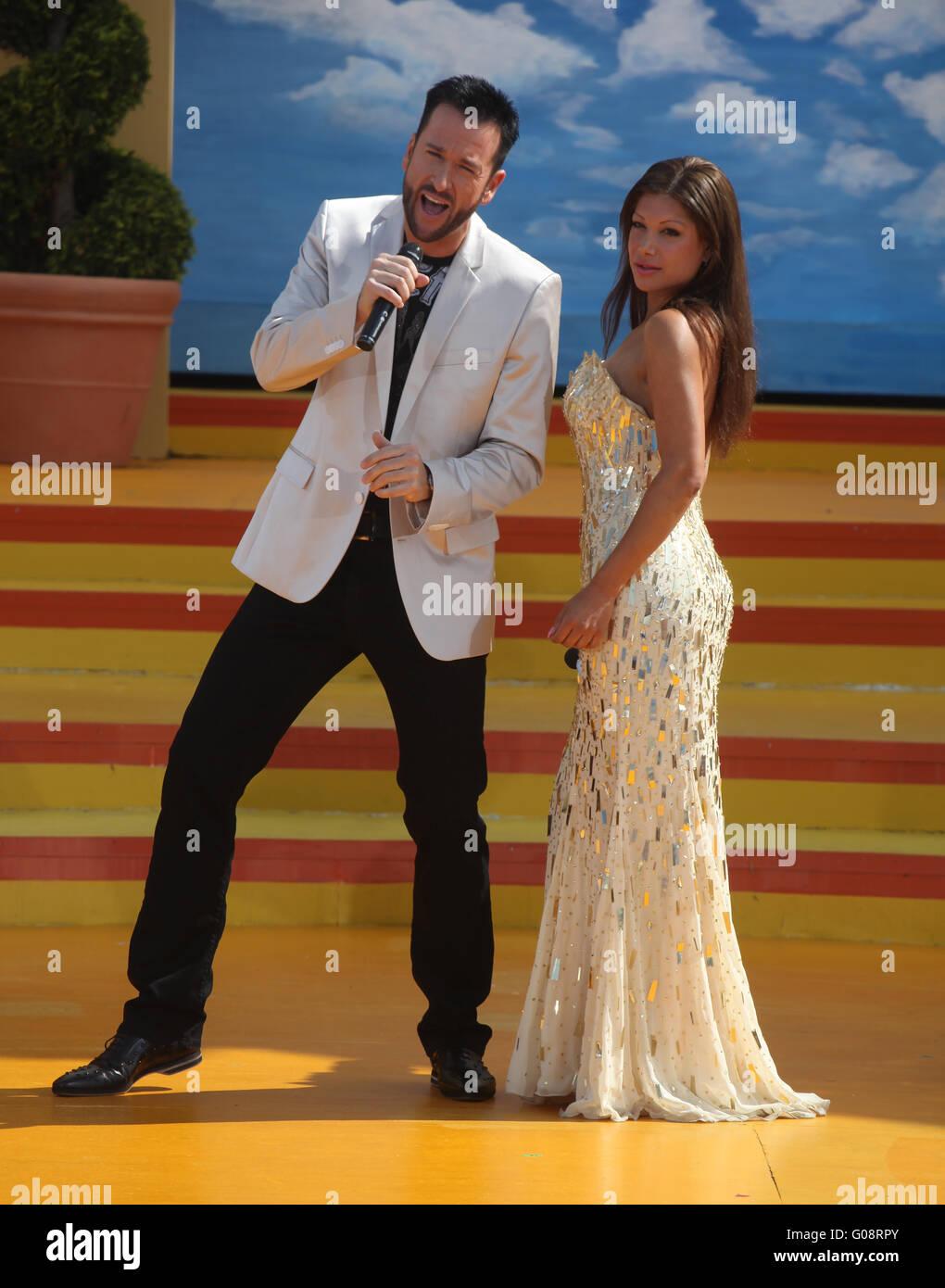 Singer Micheal Wendler and Singer Anika - Stock Image