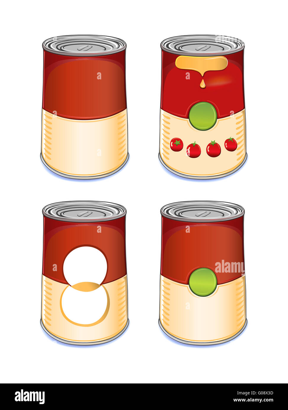 Template tin can tomato soup isolated on white Stock Photo ...