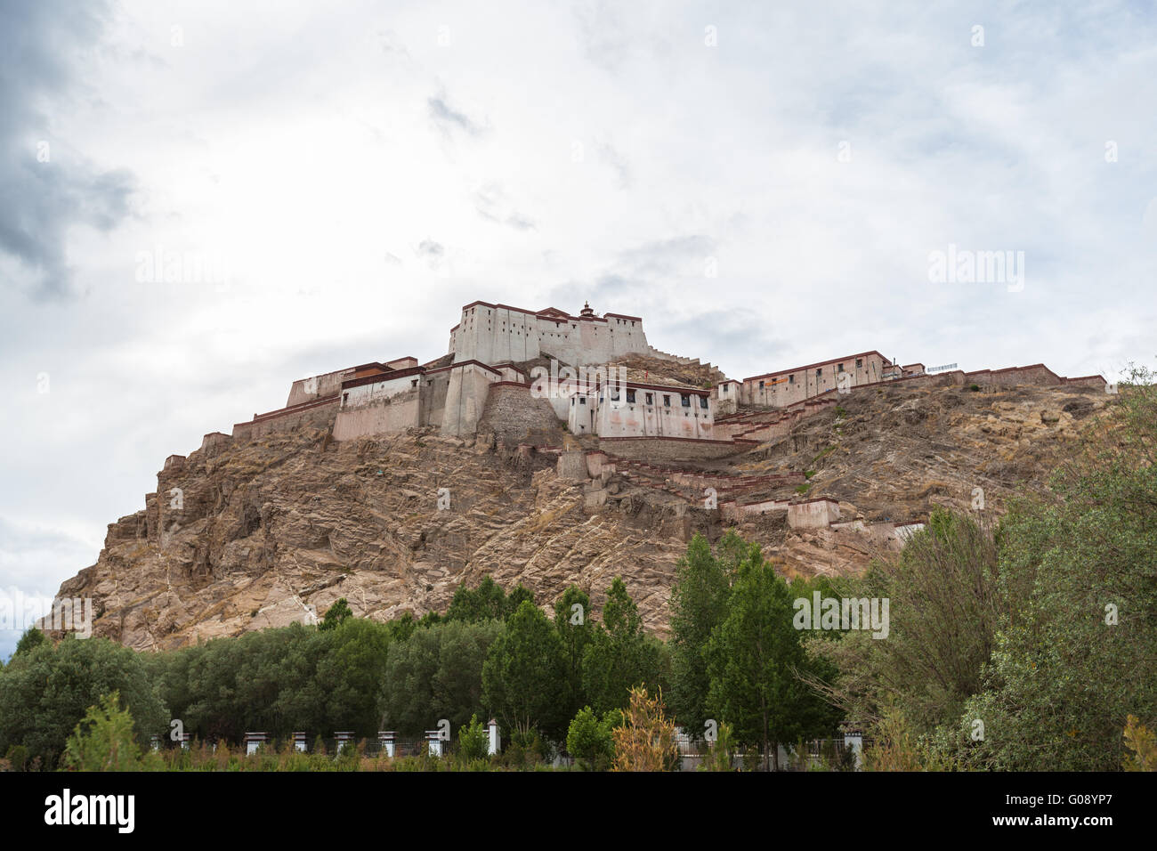 View of the famous fort in Gyantse, Tibet, China - Stock Image