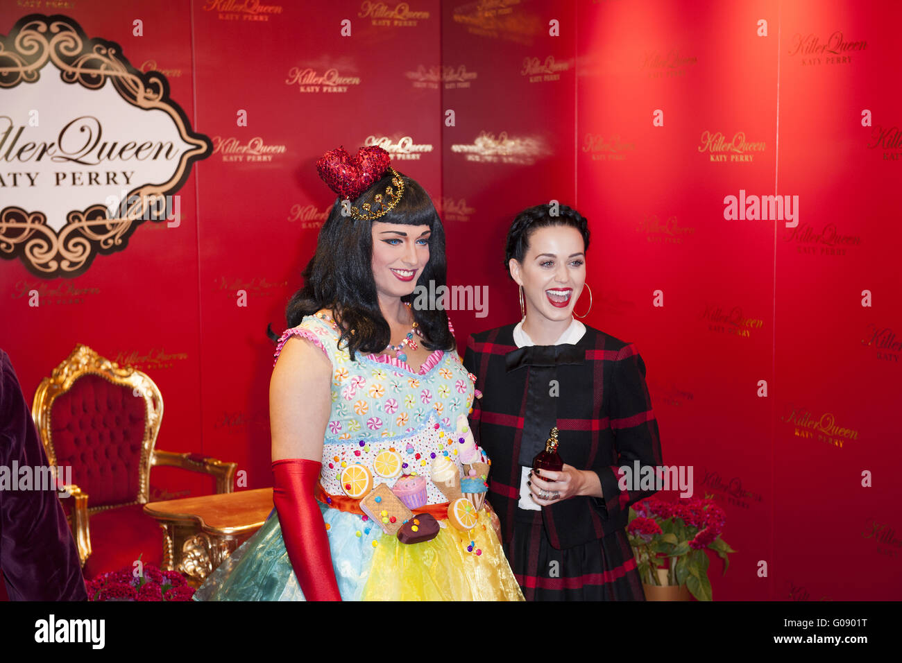 Katy Perry launches her new fragrance in Berlin. - Stock Image