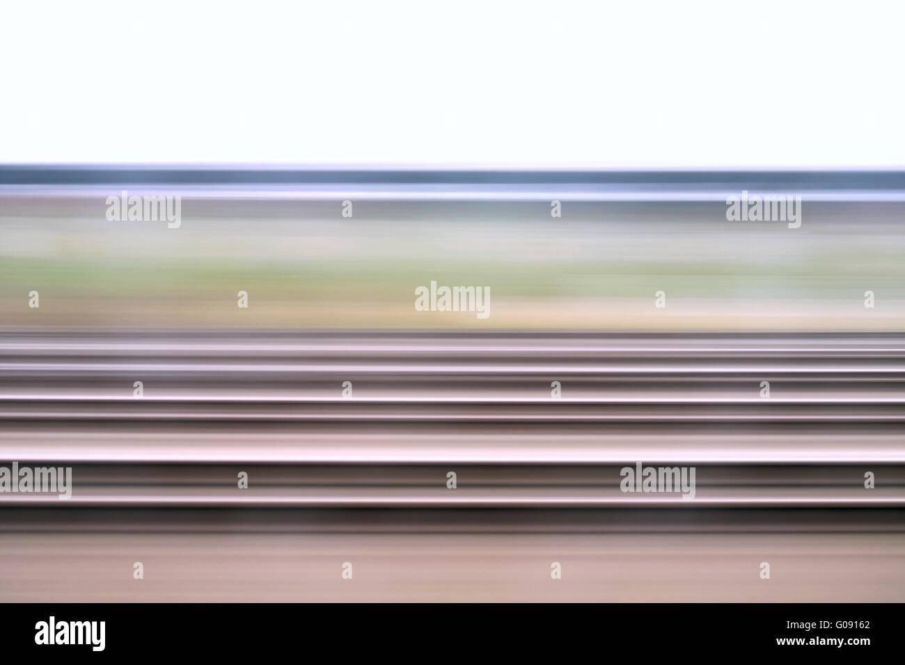 Train journey - Stock Image