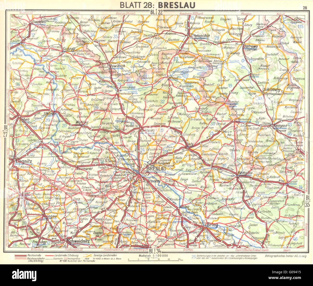 Breslau Map Stock Photos Breslau Map Stock Images Alamy