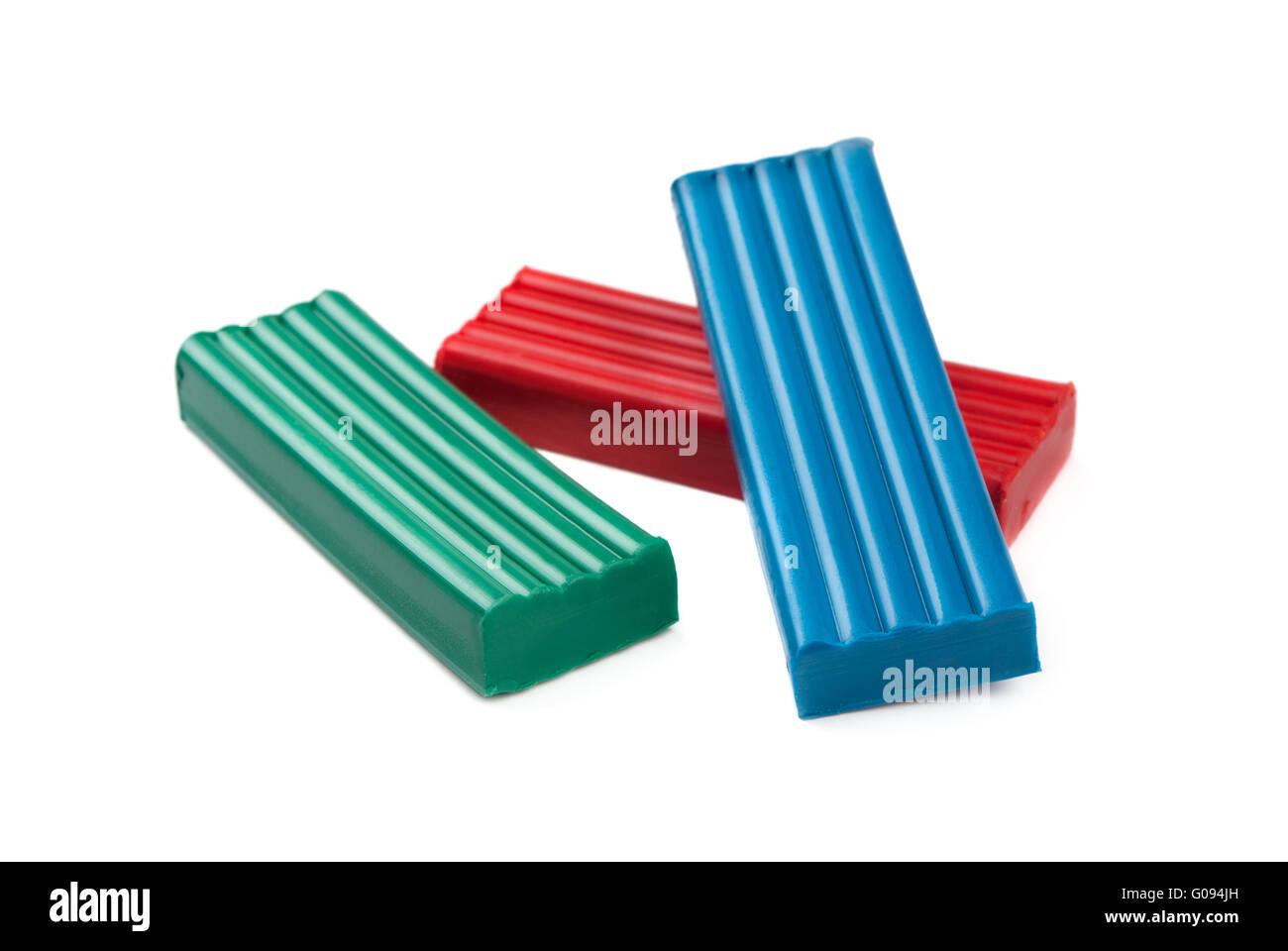 Plasticine blocks - Stock Image