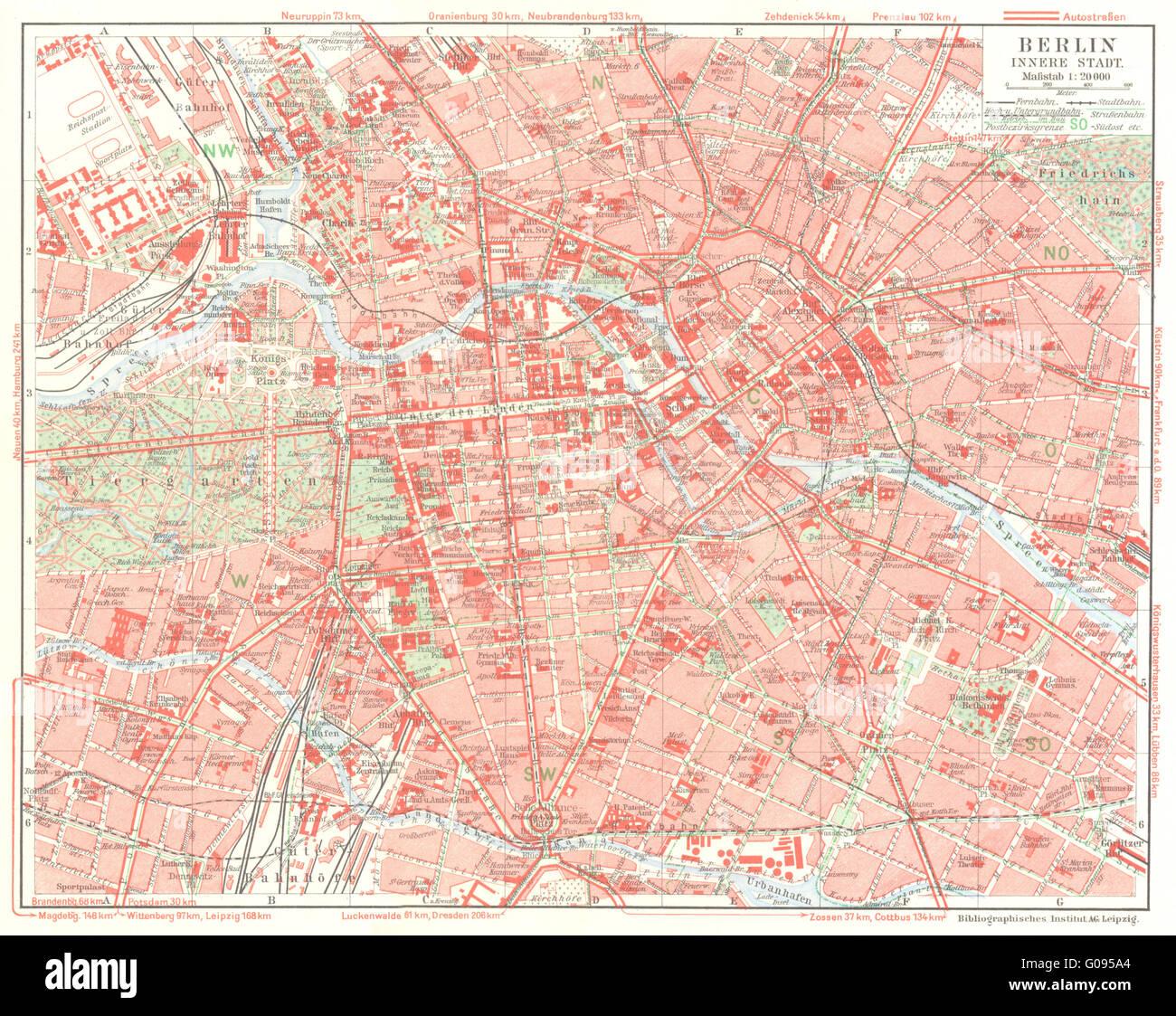 GERMANY Vintage 1930 Color Map