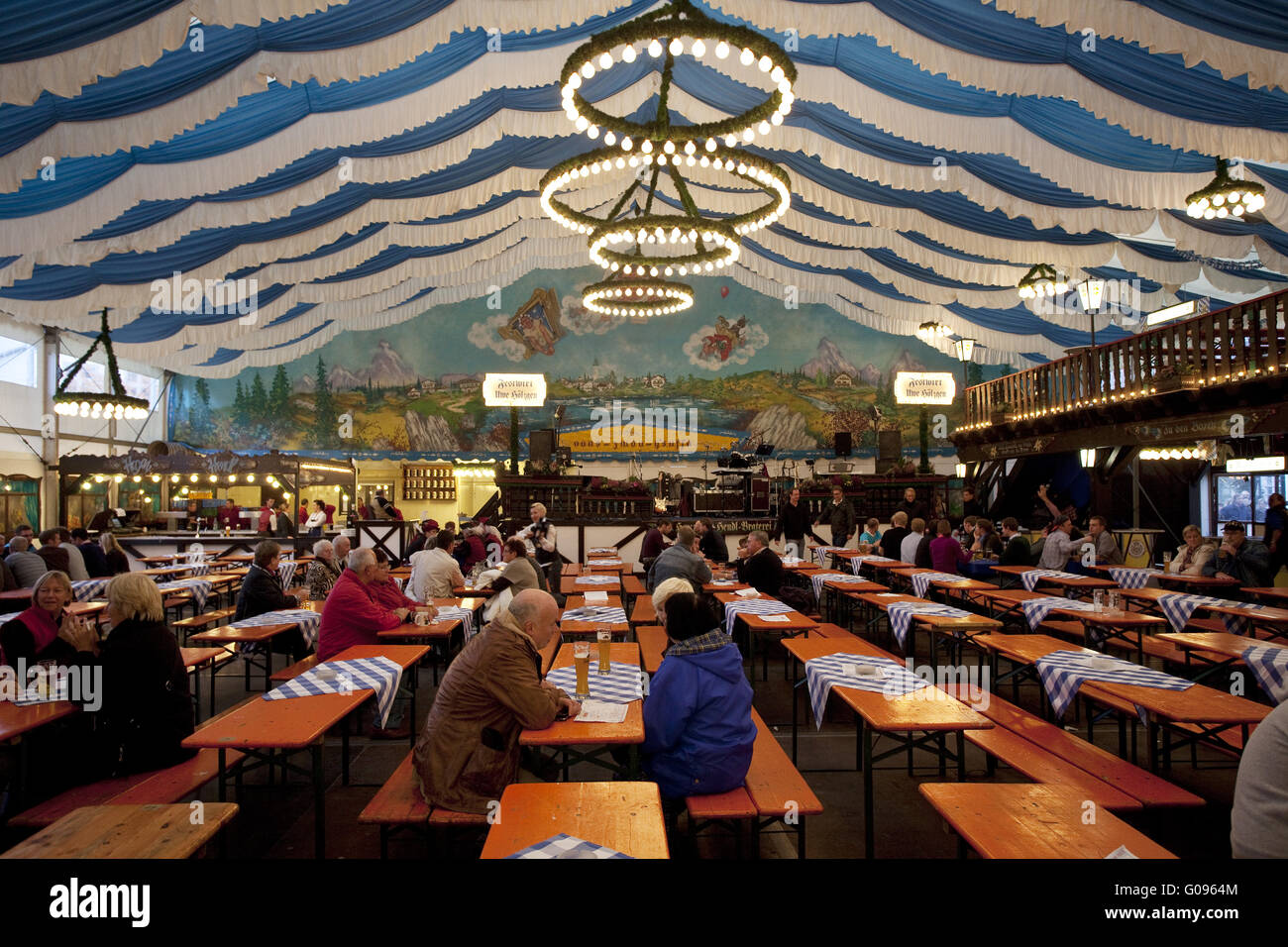 Bavaria tent at the Allerheiligenkirmes in Soest. - Stock Image