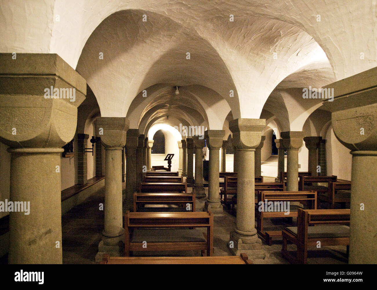The St. Patrokli Cathedral at Soest in Germany. Stock Photo