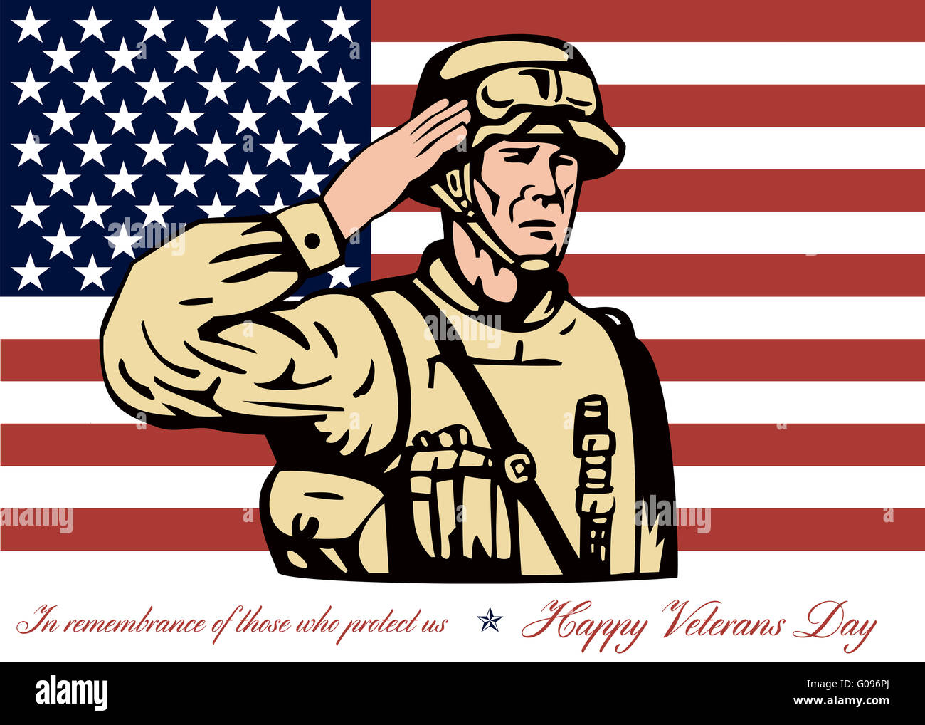 Happy veterans day greeting card soldier salute stock photo happy veterans day greeting card soldier salute m4hsunfo