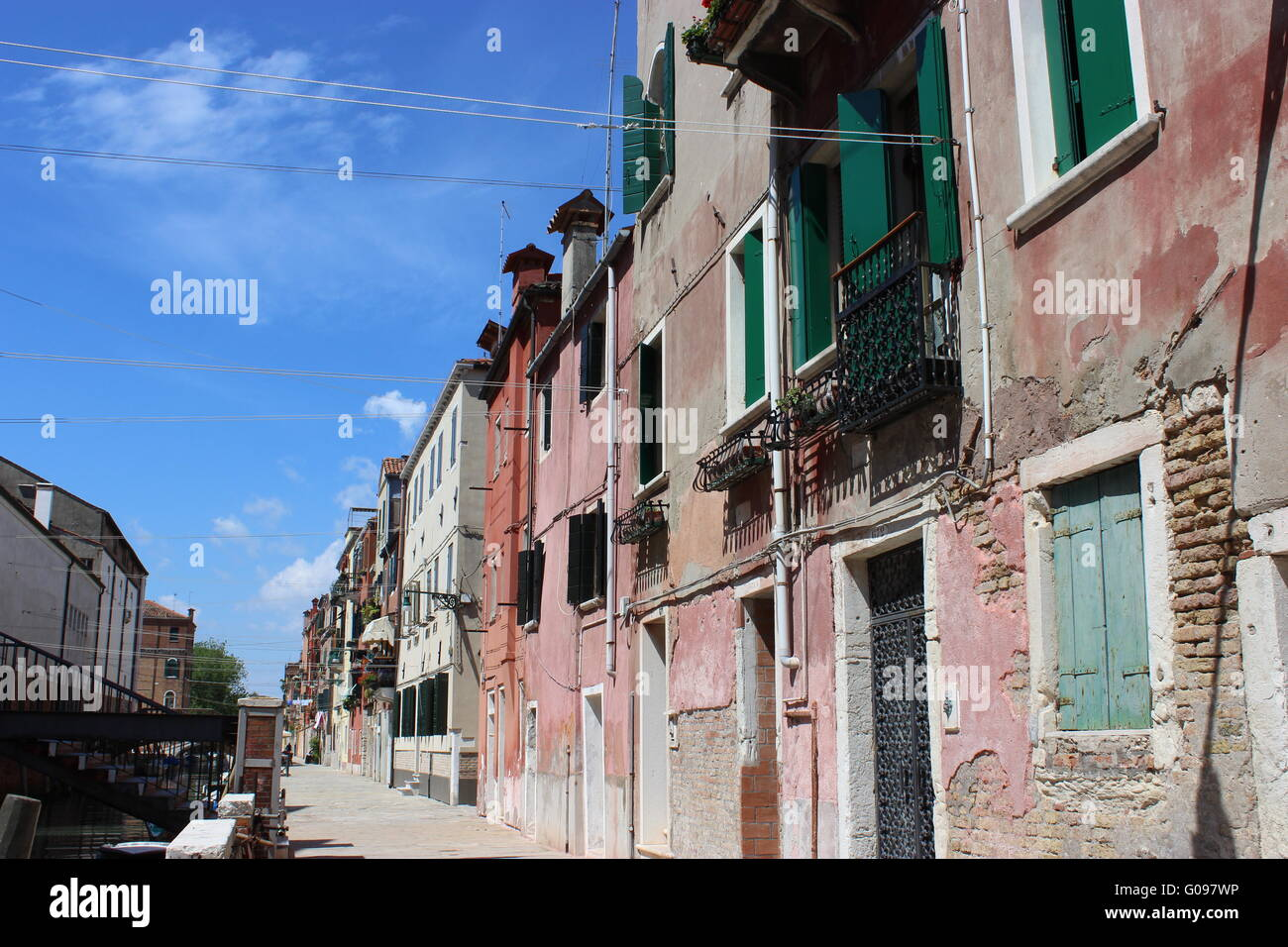 Venice off the tourist track - Stock Image