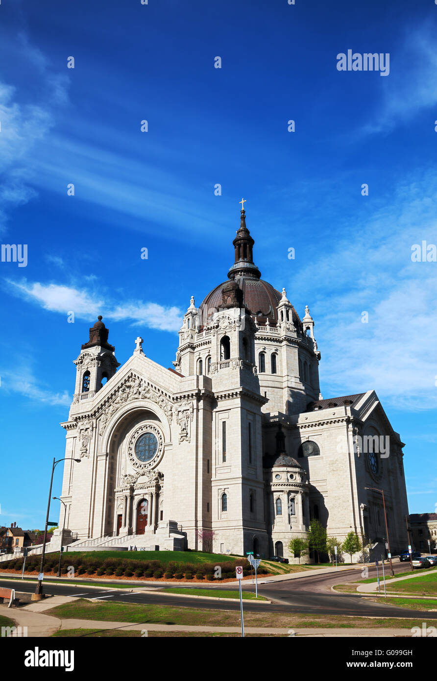 Cathedral of St. Paul, Minnesota in the morning - Stock Image