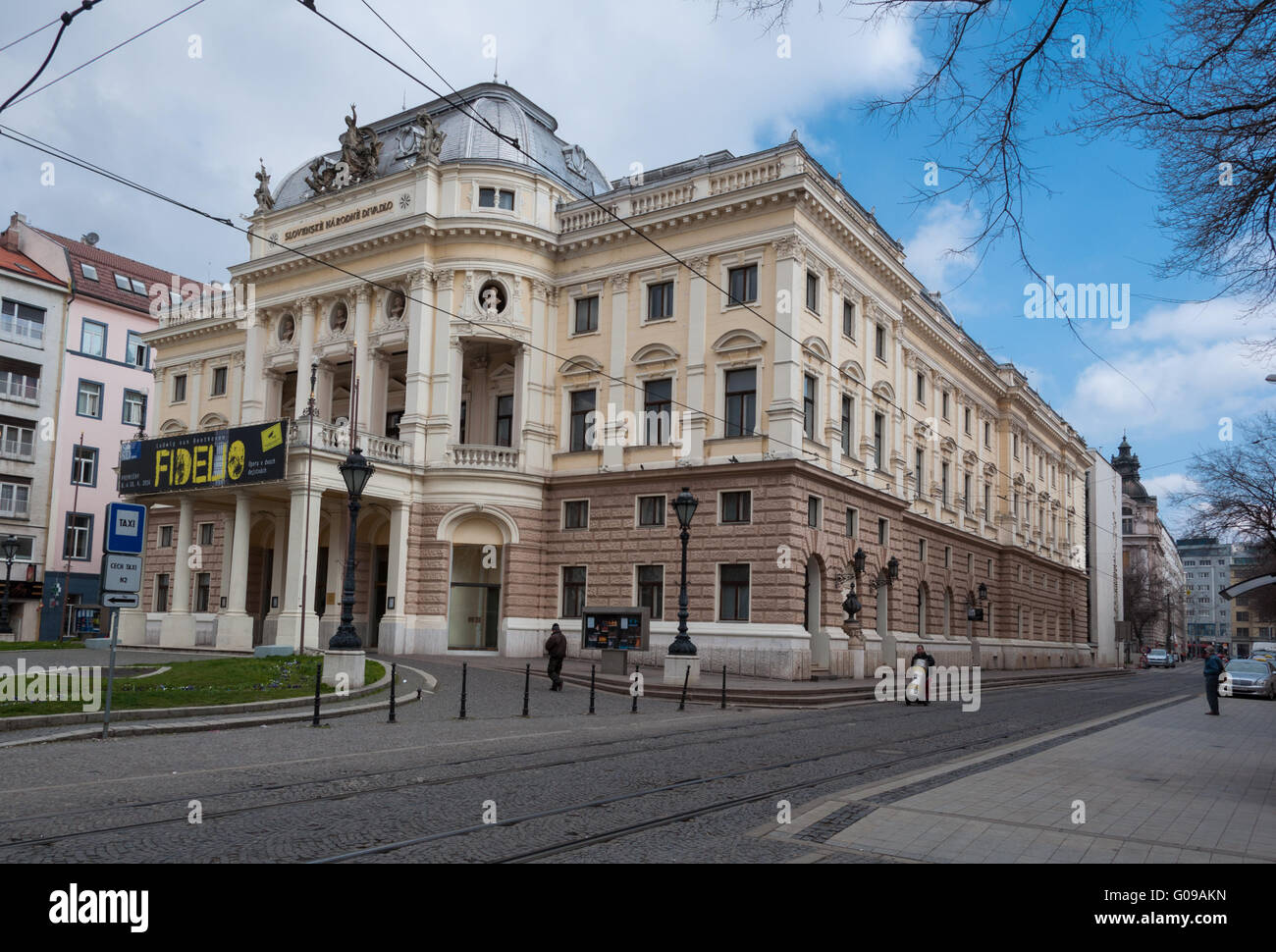 The National Theatre, Bratislava, Slovakia - Stock Image